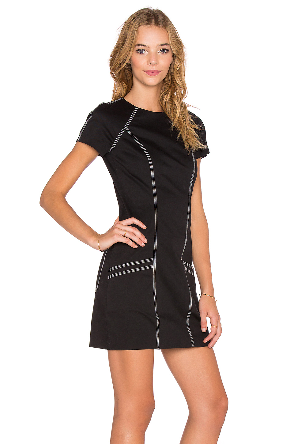 lyst t by alexander wang tech suiting short sleeve dress. Black Bedroom Furniture Sets. Home Design Ideas