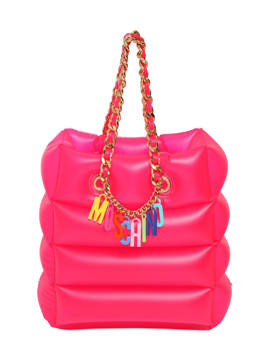 Moschino Logo Charms Inflatable Tote Bag In Purple Lyst