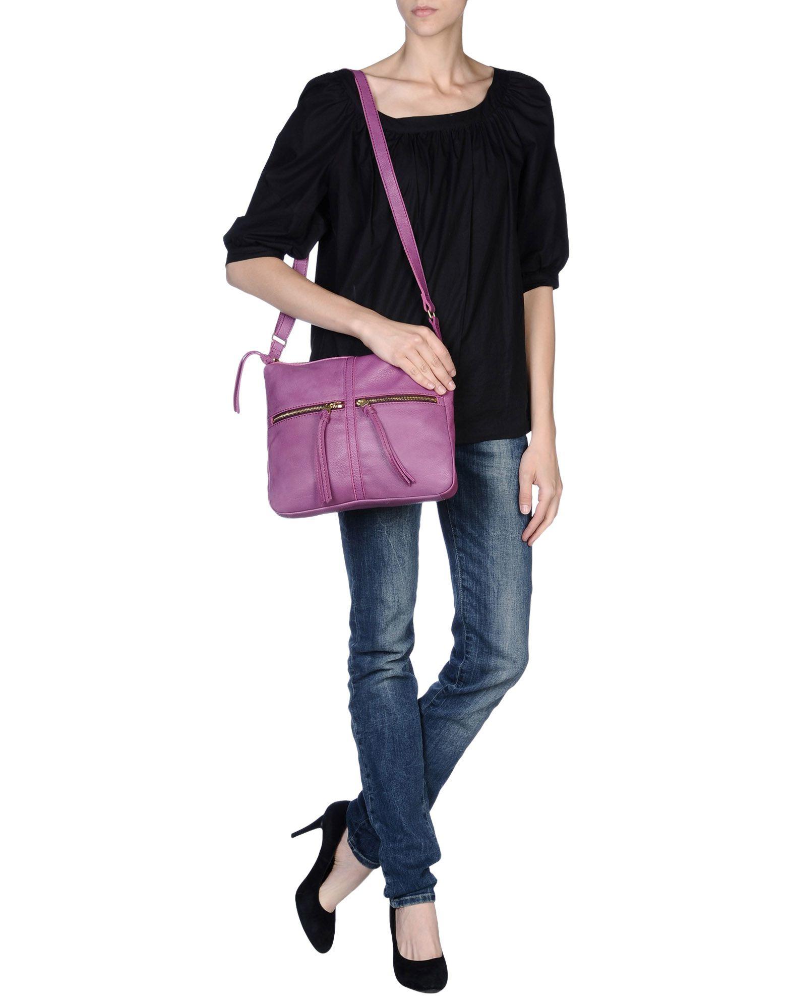 Fossil Cross-body Bag in Light Purple (Purple)