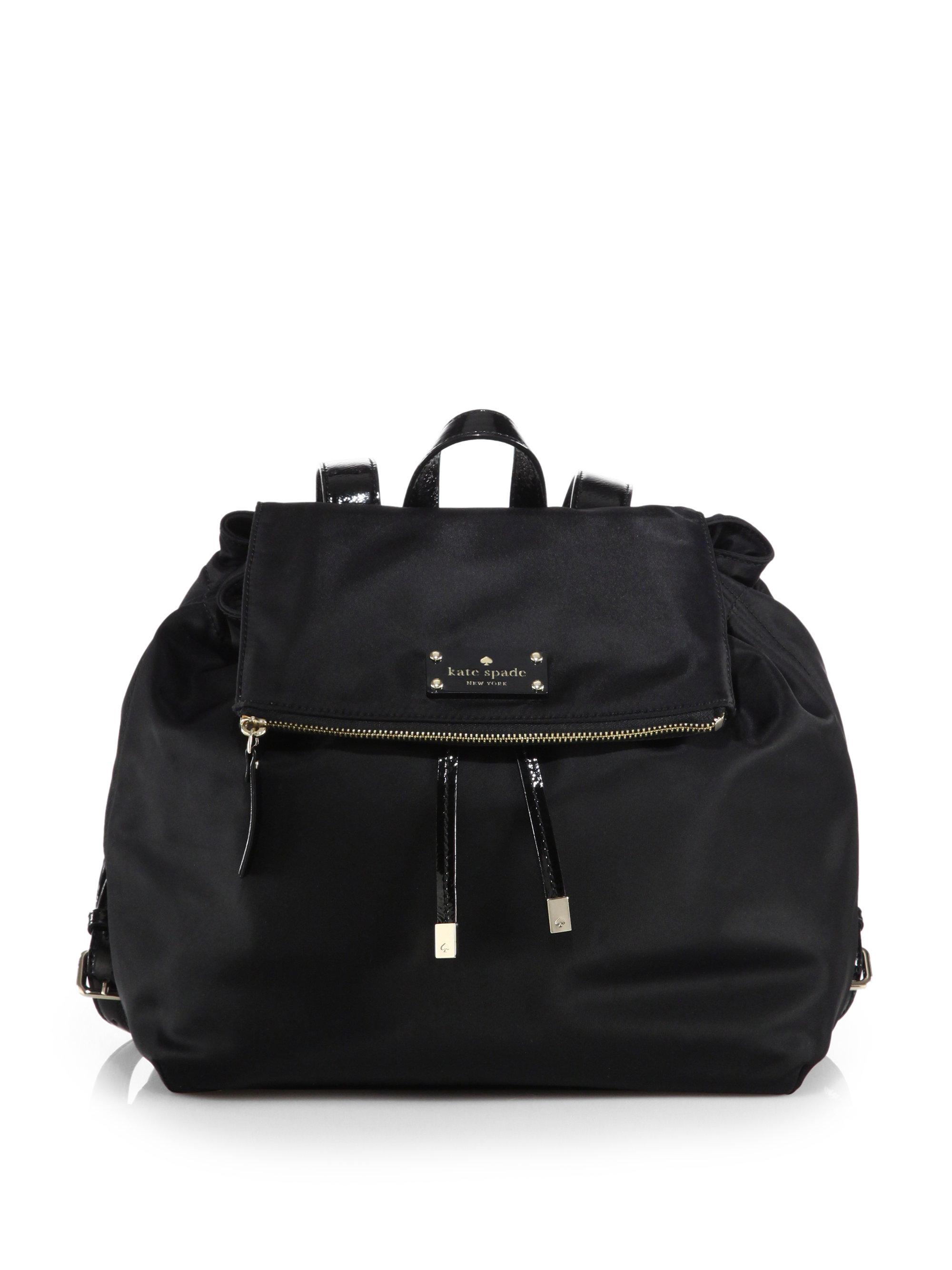 Kate Spade Nylon Backpack in Black | Lyst