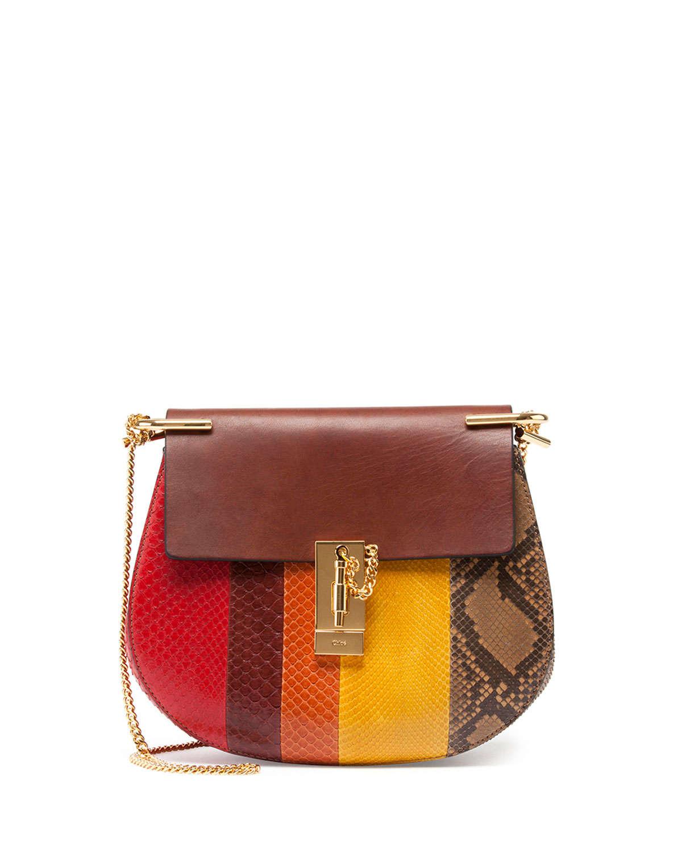Chlo¨¦ Drew Small Python Shoulder Bag in Multicolor (multi) | Lyst