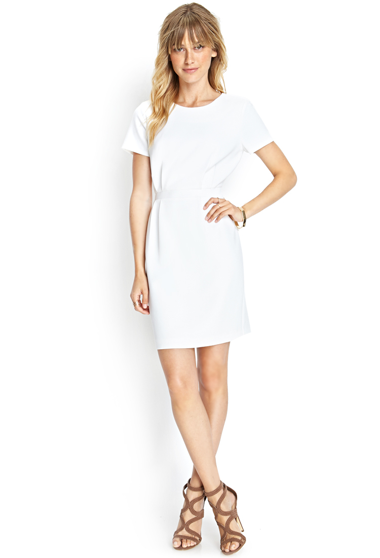 Lyst - Forever 21 Contemporary Short-sleeved Knit Dress in ... - photo #33