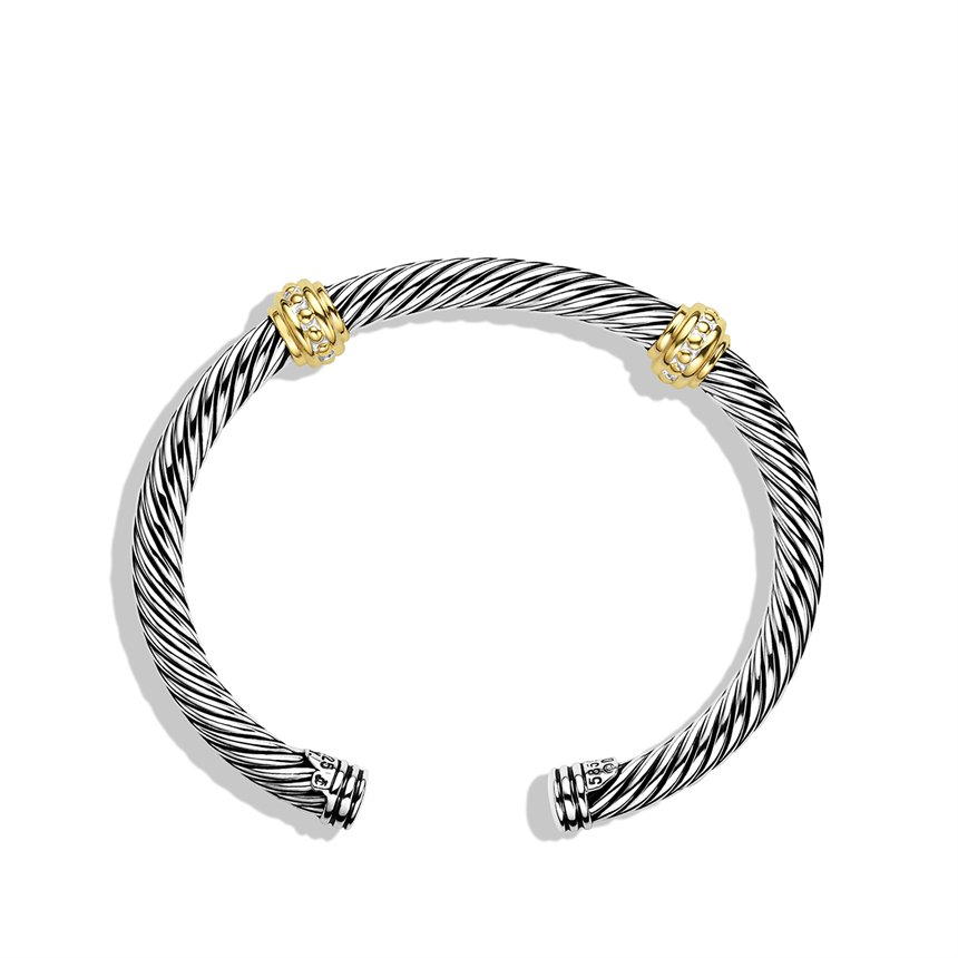 Lyst david yurman cable classics twostation bracelet for David yurman inspired bracelet cable