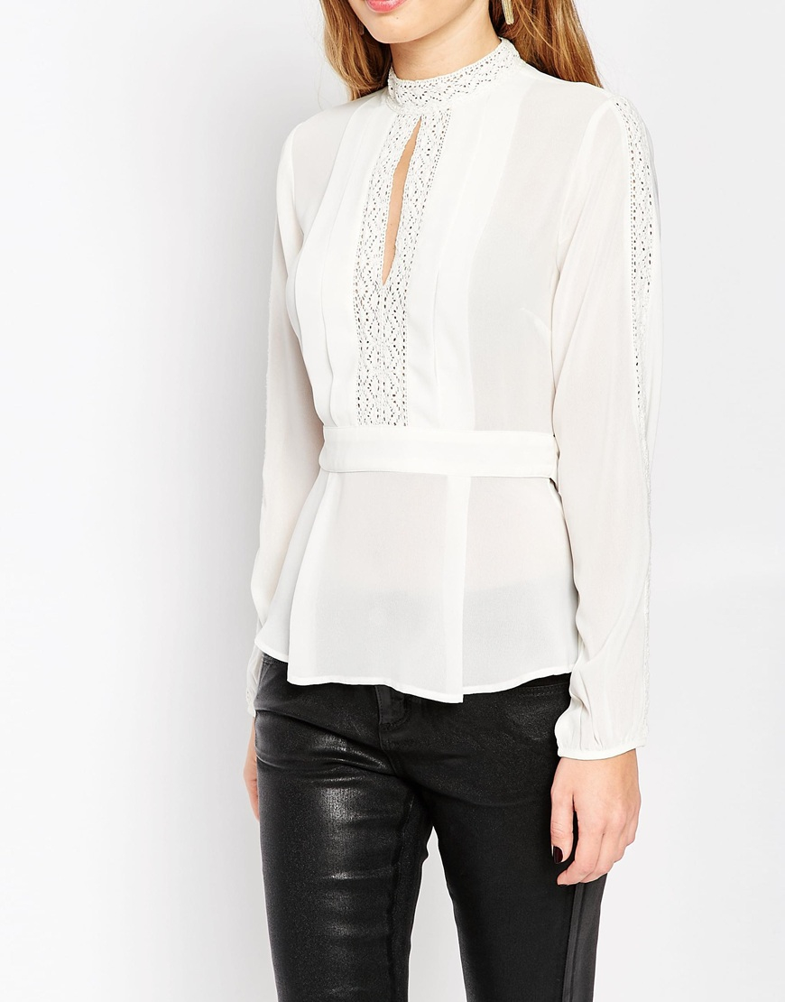White Tie Front Blouse