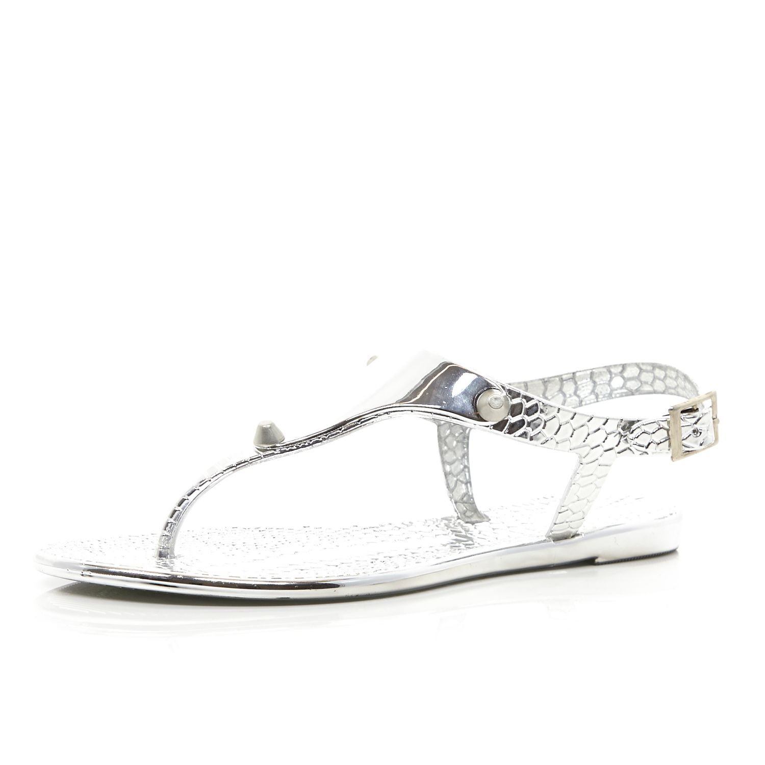 Black jelly sandals river island - Gallery