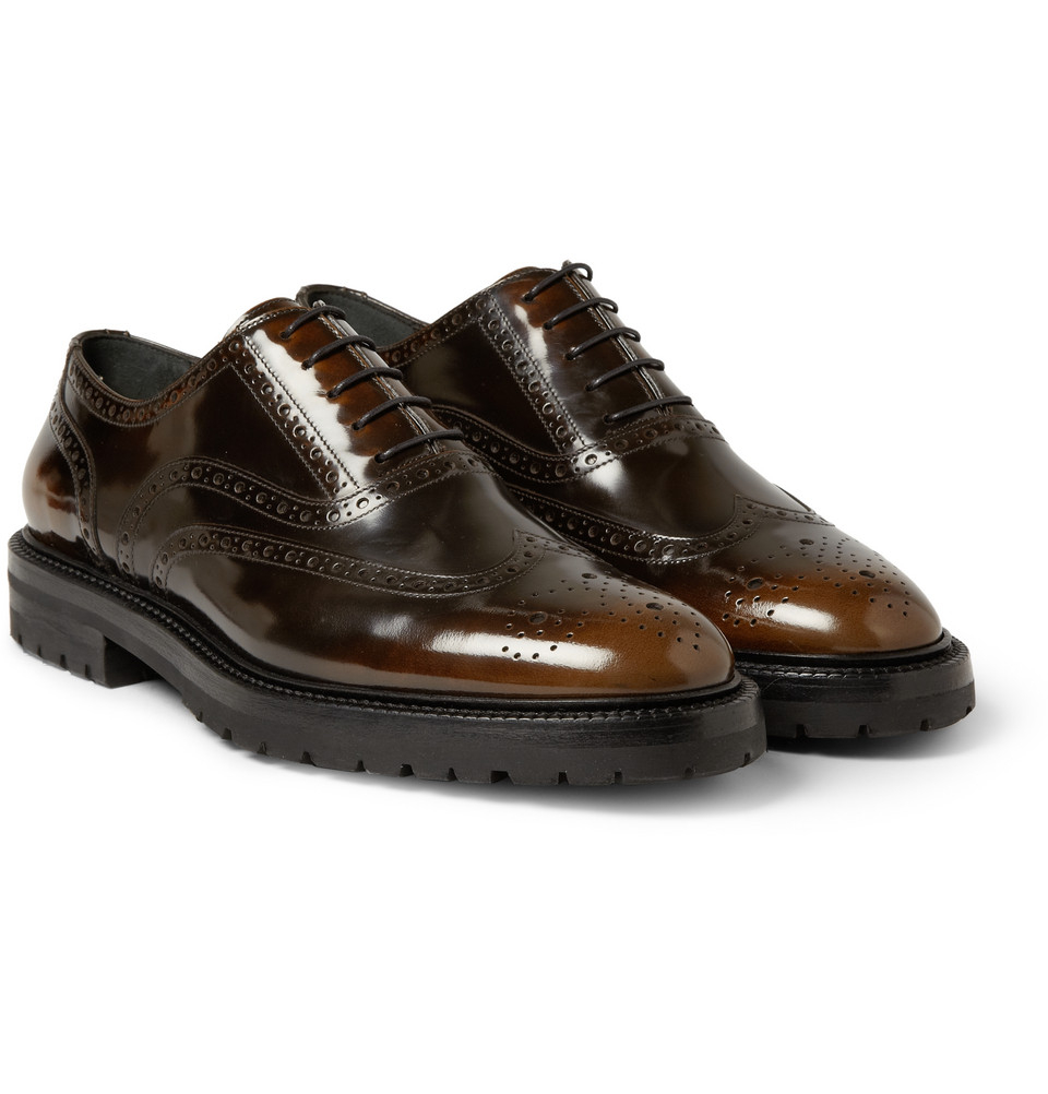 Brown Burnished Leather Men S Shoes