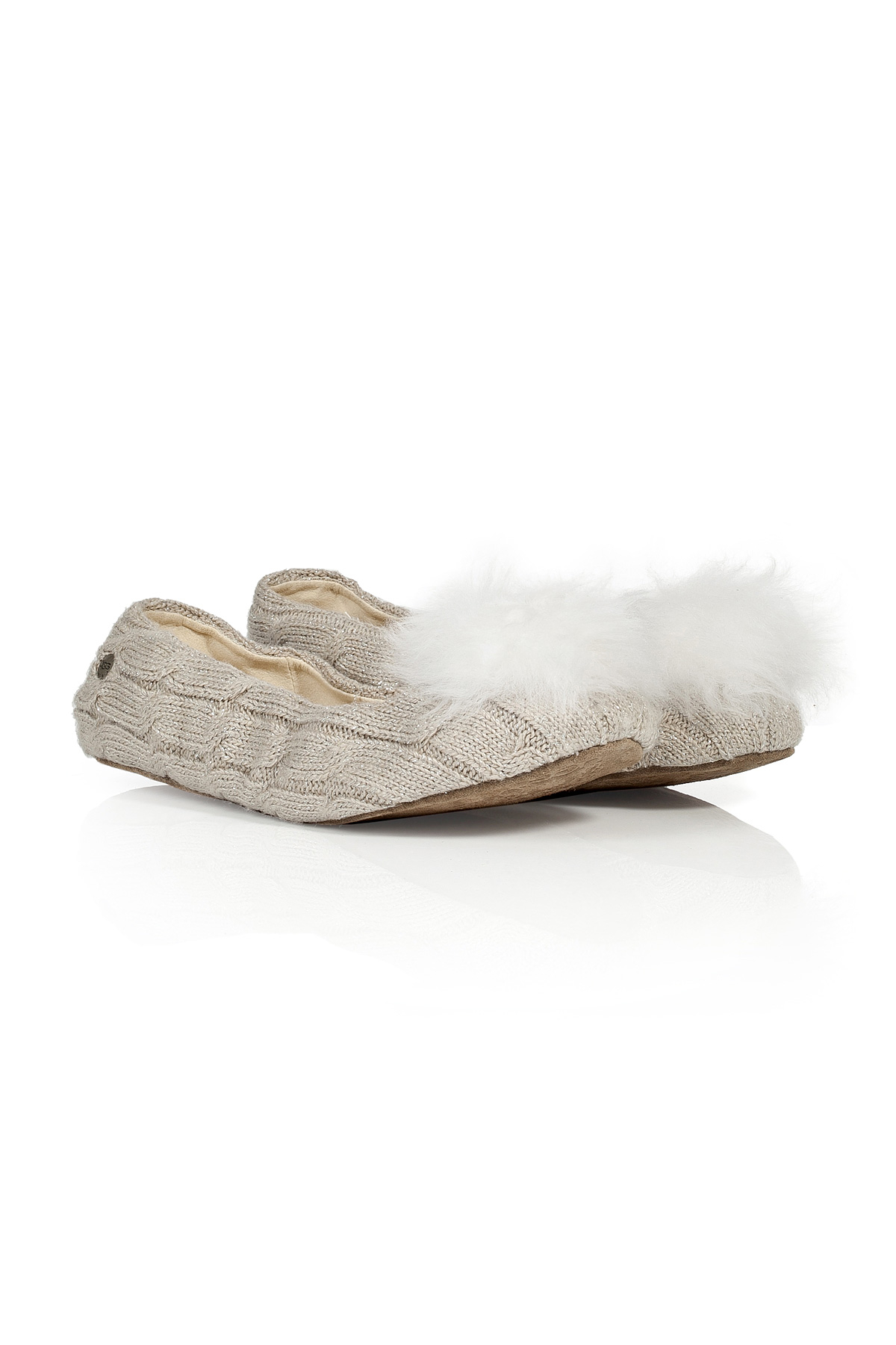 7b99e5d0a5a5 Ugg Lyst White Slippers In Fur Wool With Pompom OzOUwrPq