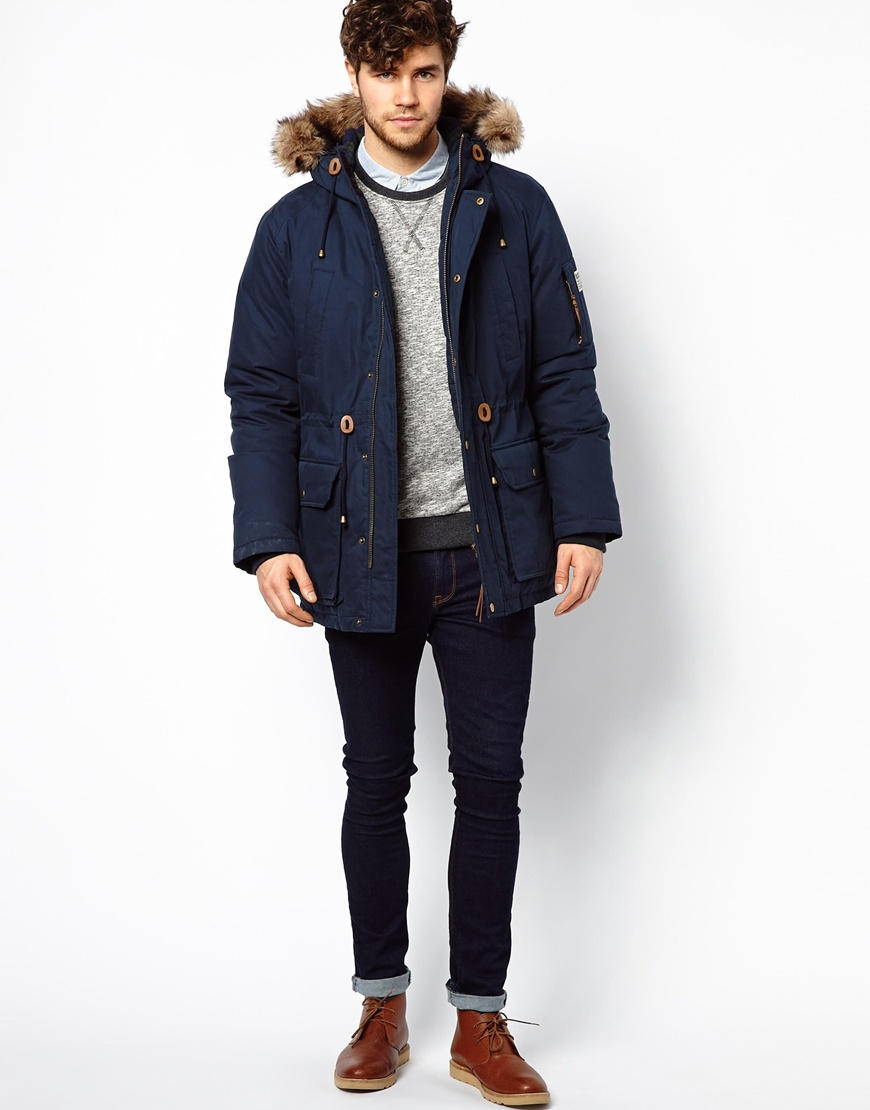 Blue Parka Jacket Men - JacketIn