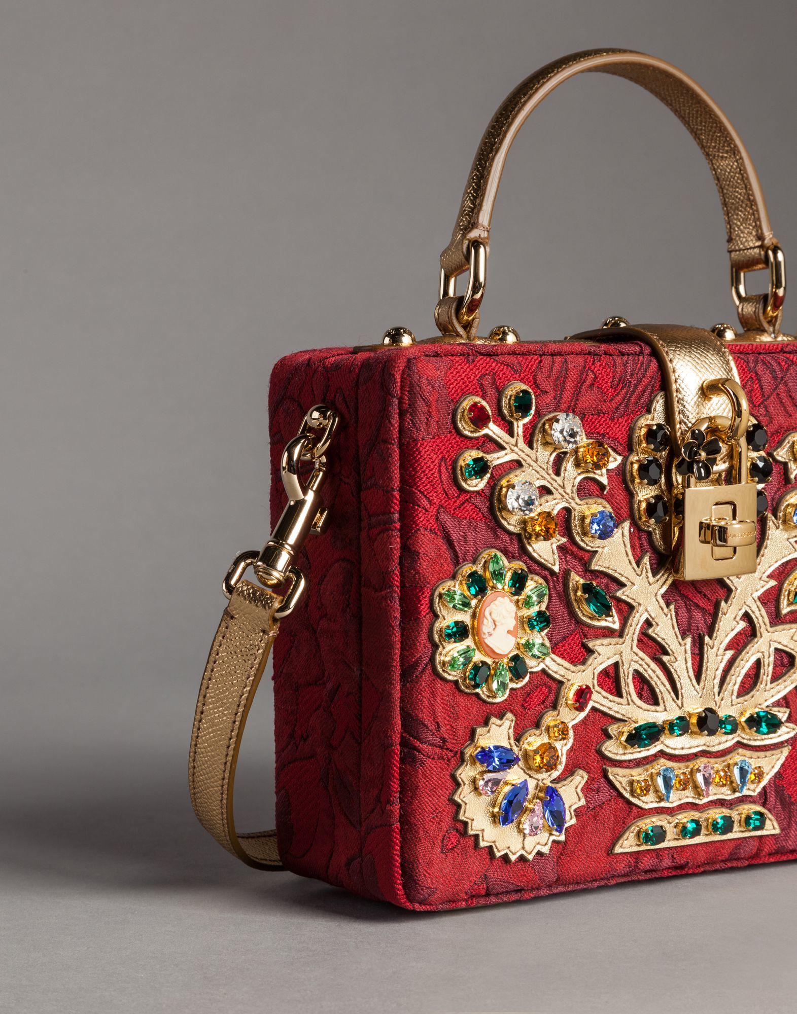 223f4df3c1 Lyst - Dolce   Gabbana Filigree Tree Brocade Dolce Box Bag