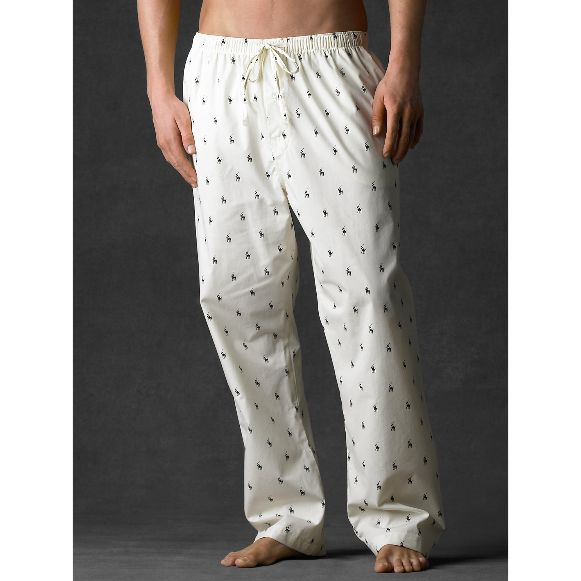 5b448d7fe Polo Ralph Lauren Allover Pony Sleep Pant in White for Men - Lyst