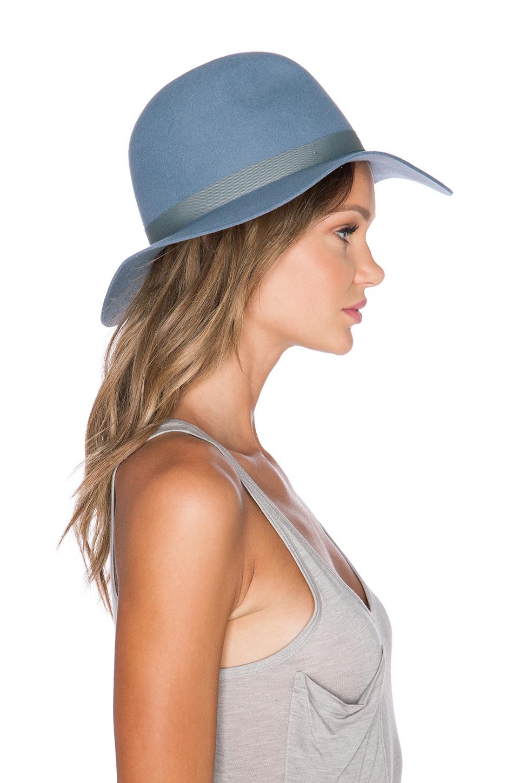 Lyst - Brixton Dalila Hat in Blue 0a80a0e0246