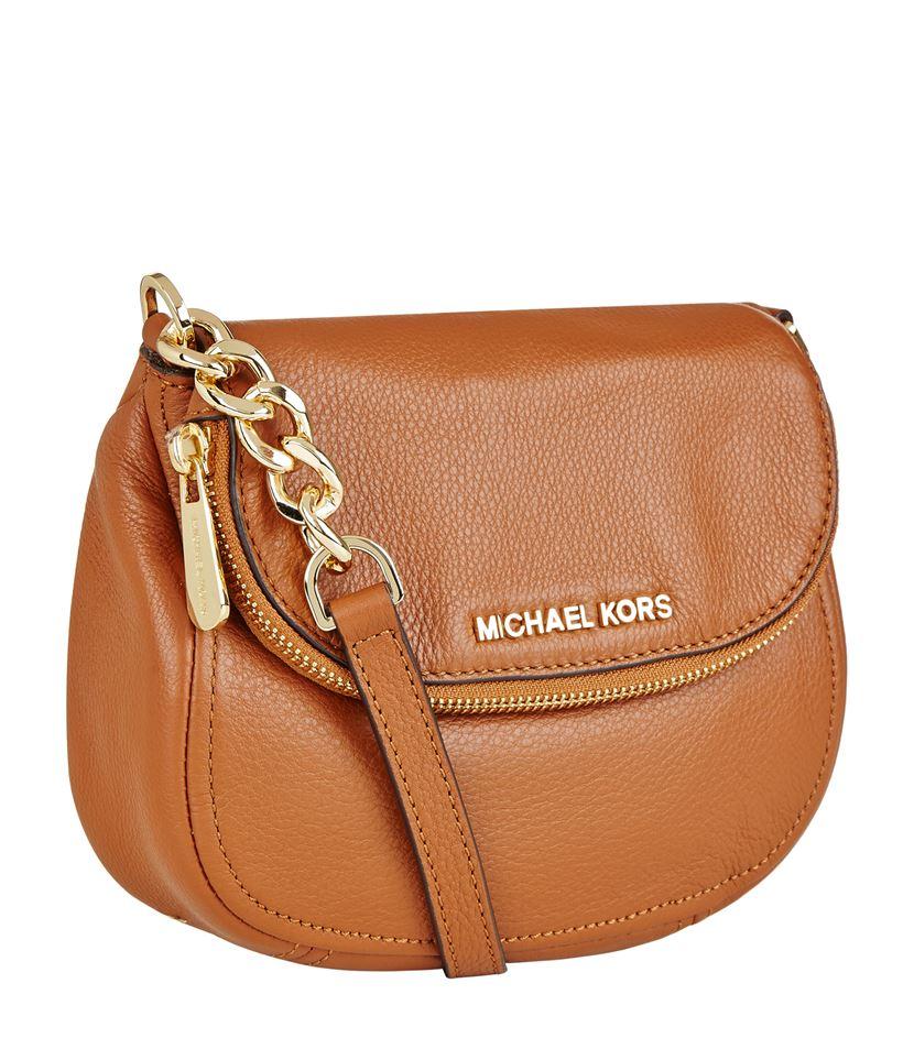 6e8cd1e16a0bd MICHAEL Michael Kors Bedford Flap Crossbody Bag in Brown - Lyst