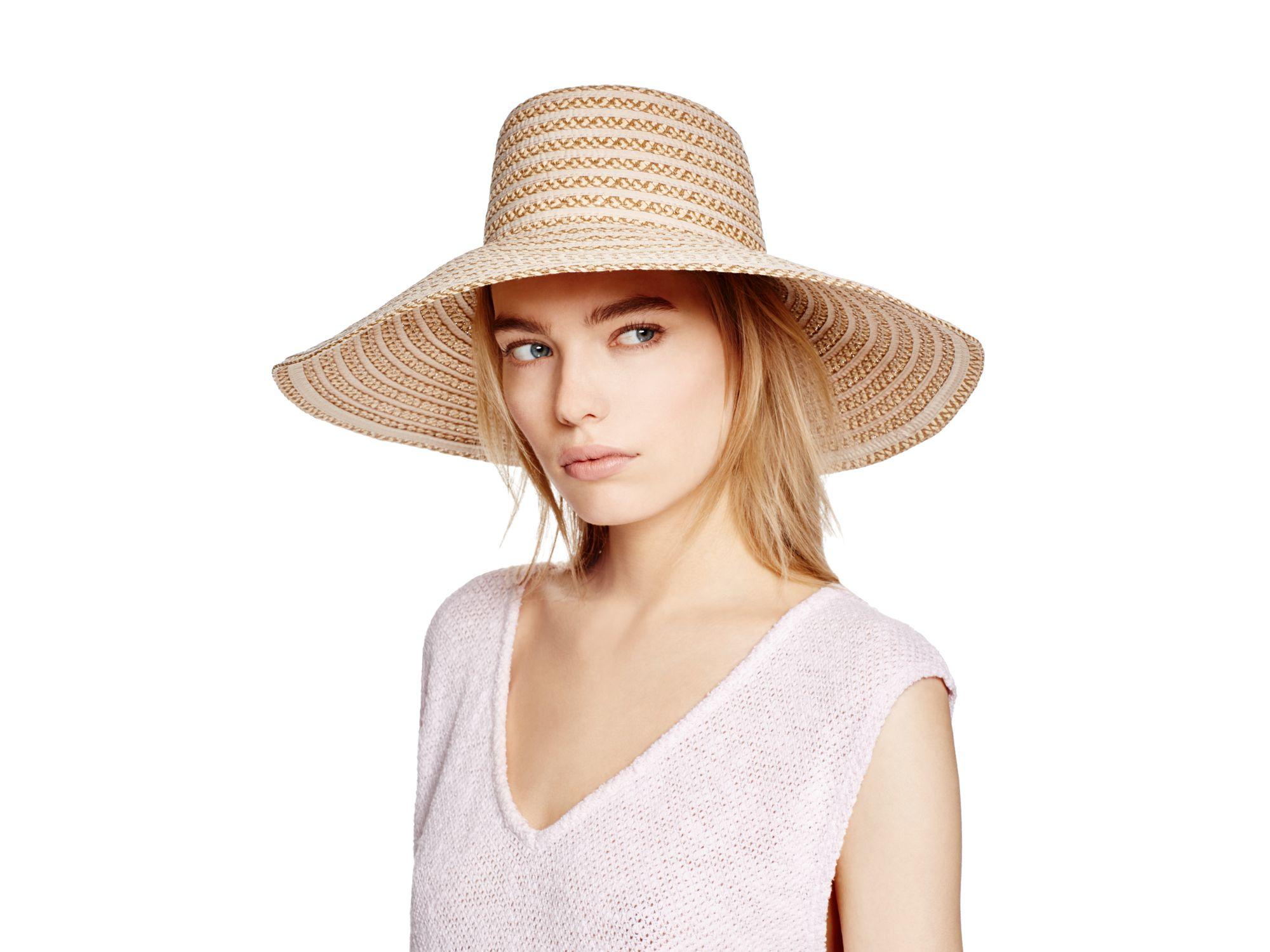 4fcfc43a4fa15 Lyst - Eric Javits Gg Damme Ii Woven Large Brim Sun Hat in Brown