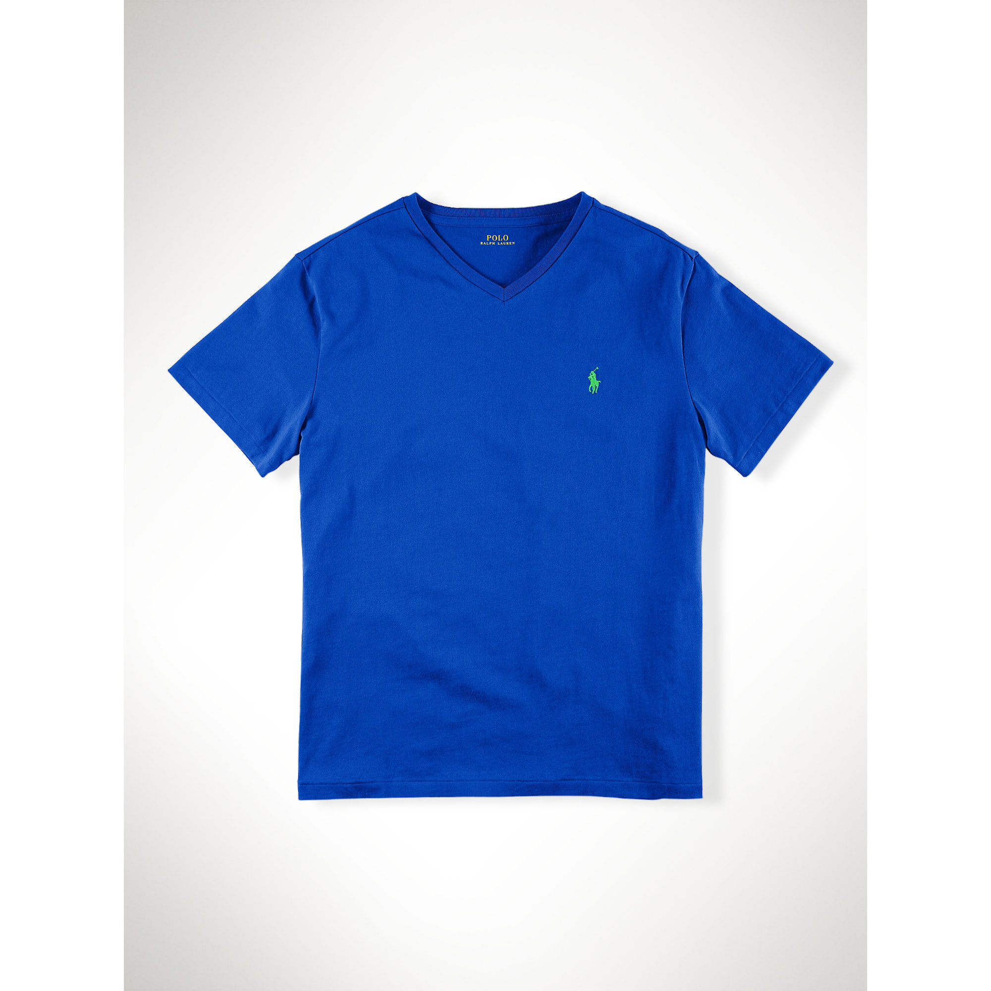 Polo Ralph Lauren Classic Fit V Neck T Shirt In Blue For