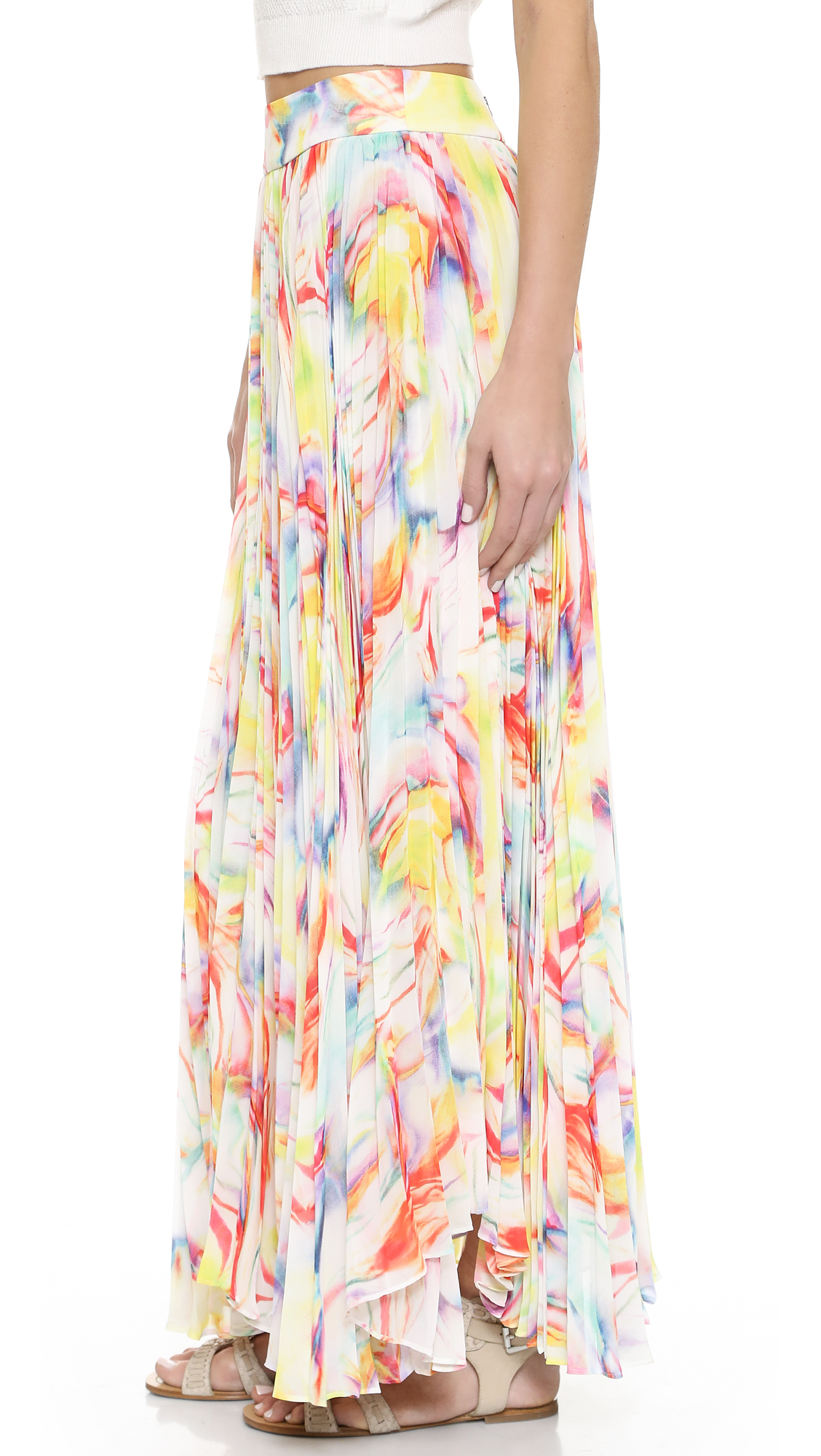 Alice olivia pleated maxi dress
