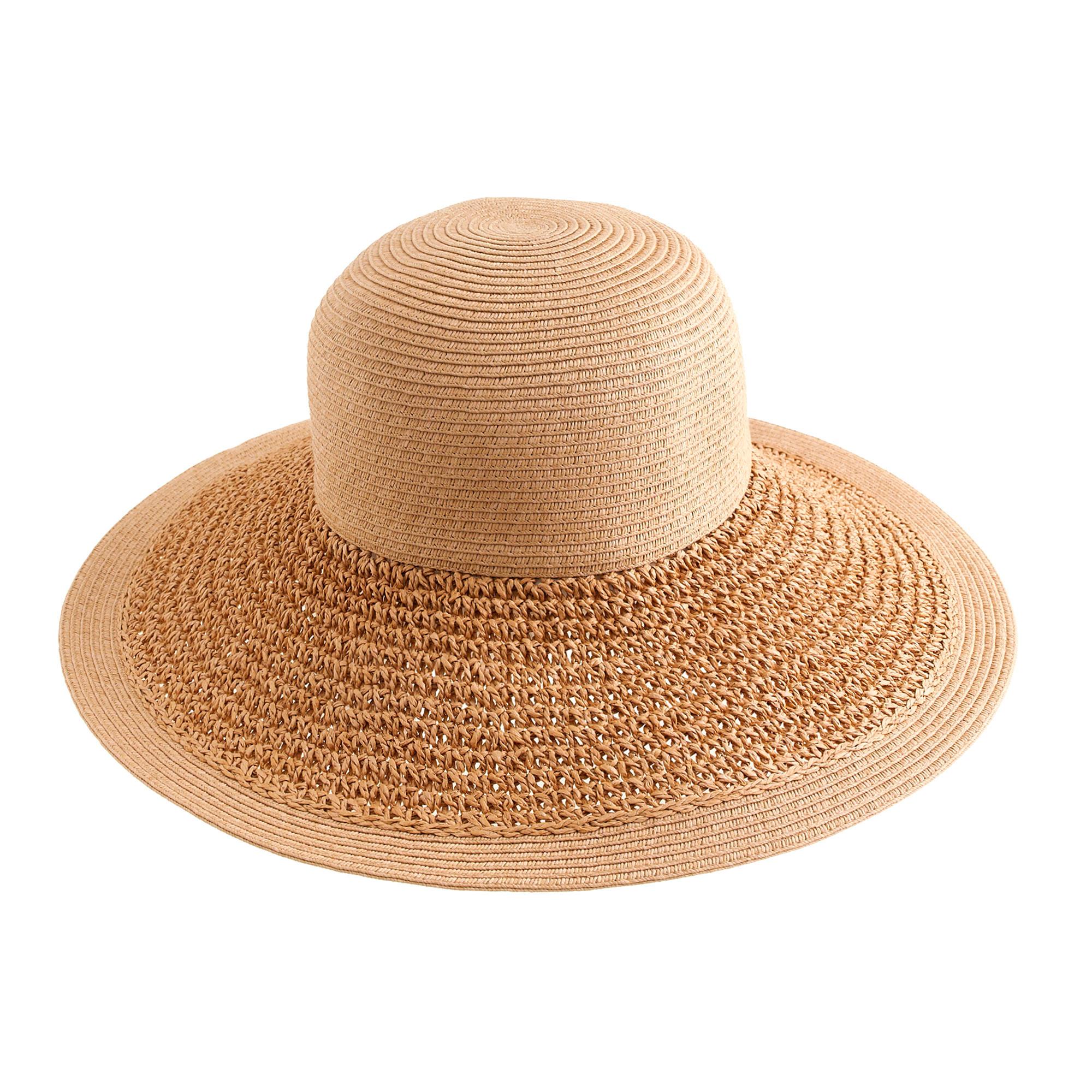 j crew textured summer straw hat in lyst