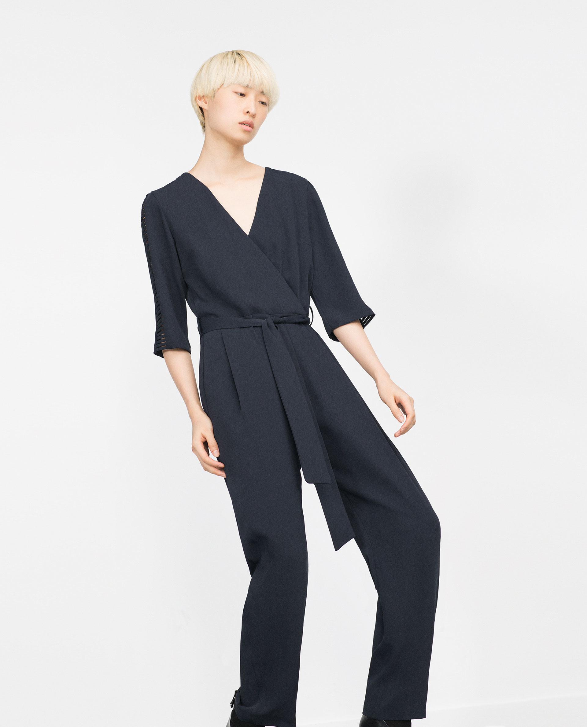 Cool Zara Lace Jumpsuit In Black  Lyst
