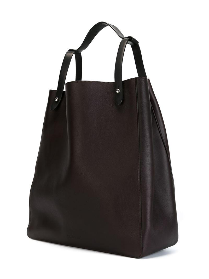 Jil Sander long shopper tote - Brown l60sbkLP4