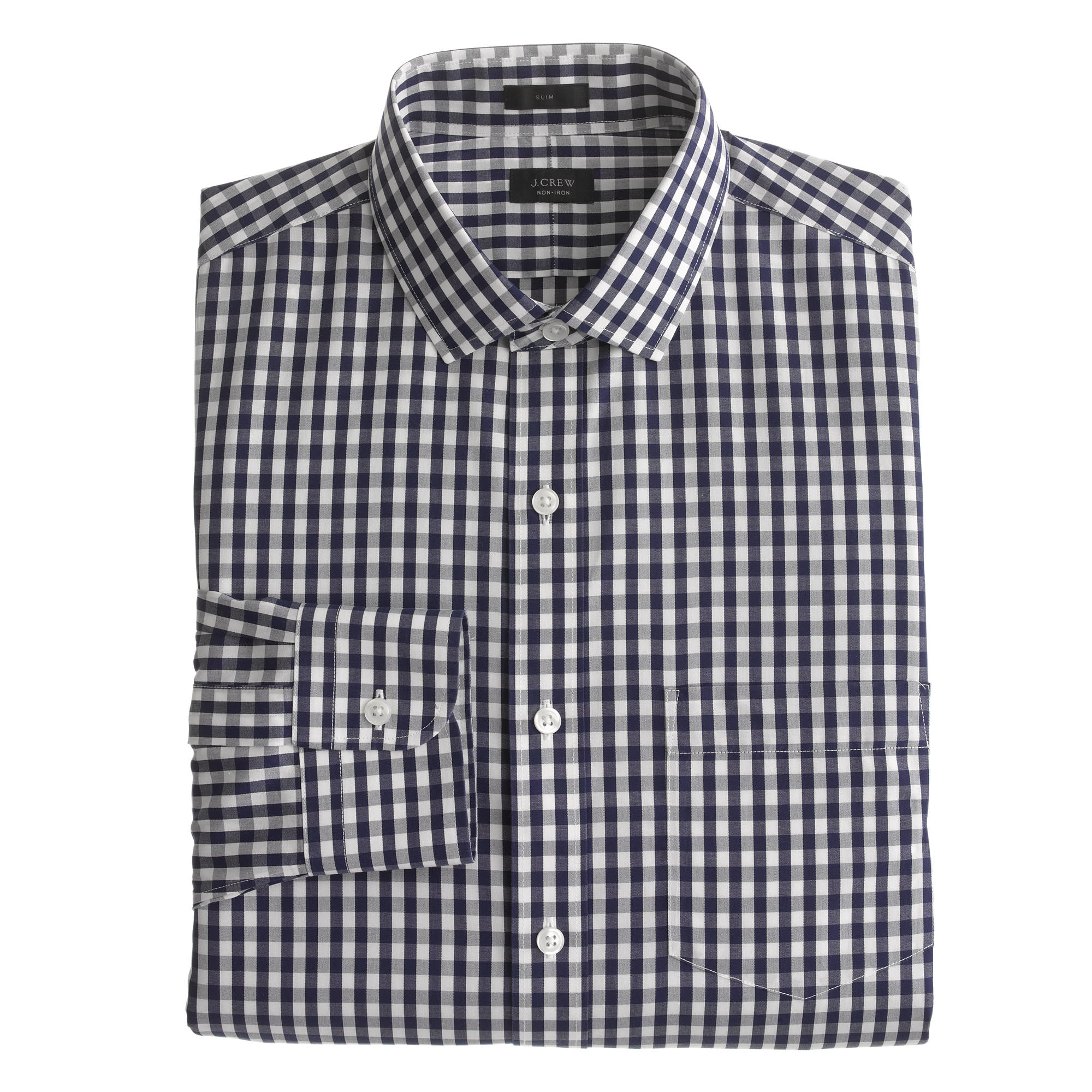 Ludlow Traveler Shirt In Navy Gingham In White For