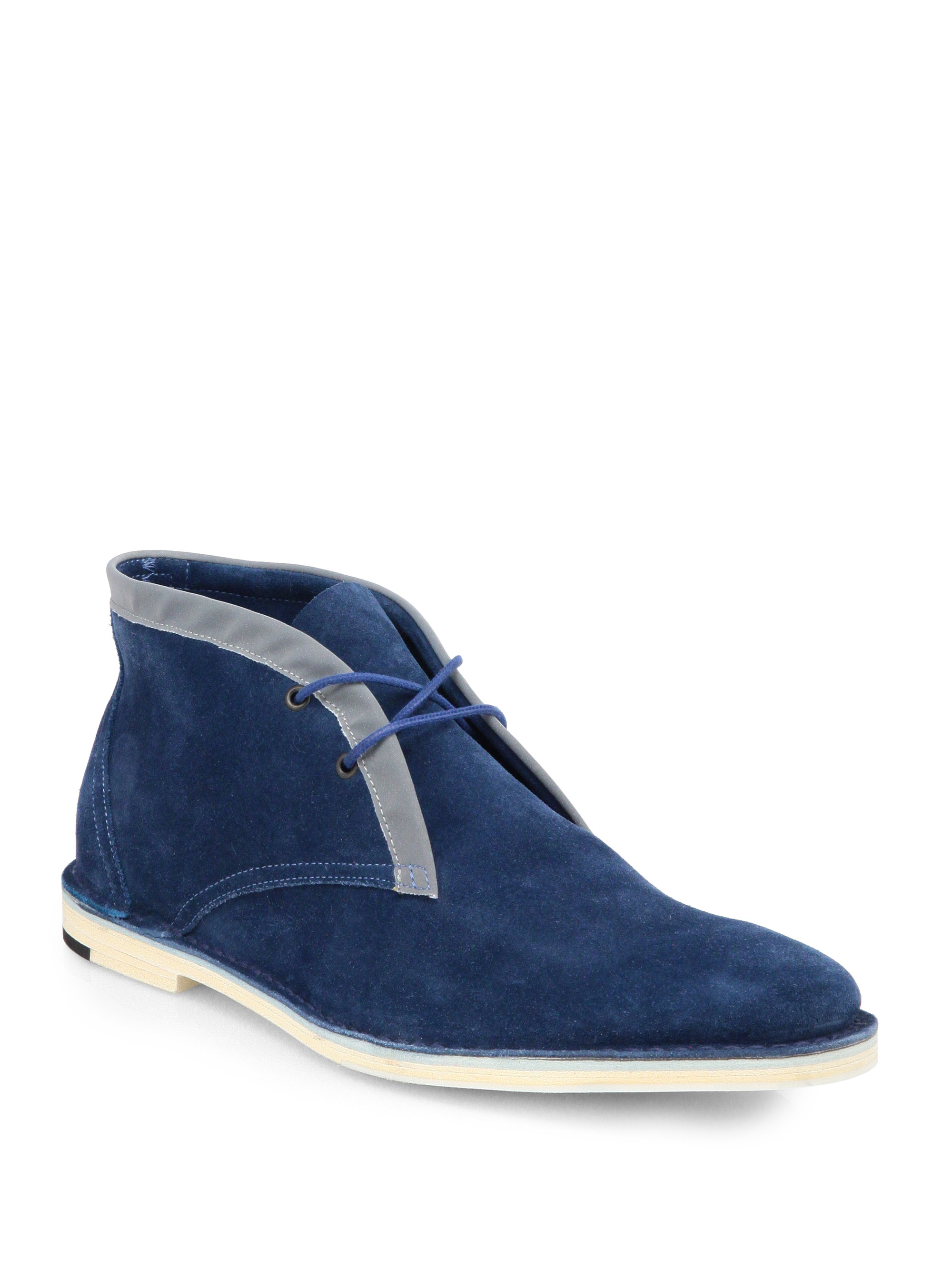 hardy suede chukka boots in blue for lyst