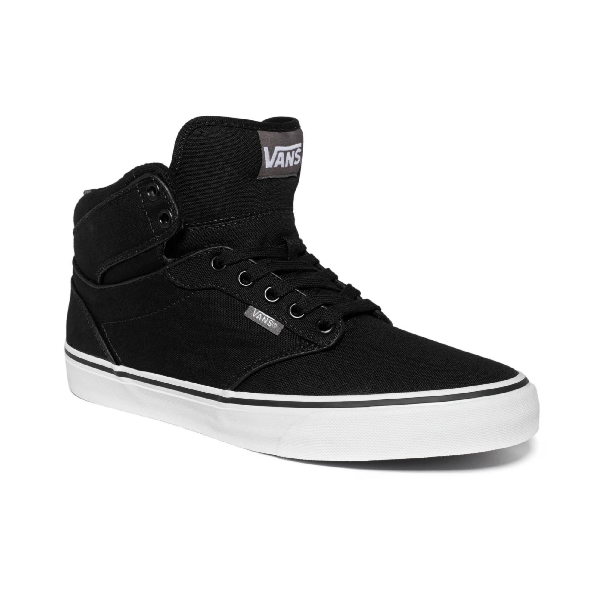 vans atwood hi sneakers in black for men lyst. Black Bedroom Furniture Sets. Home Design Ideas