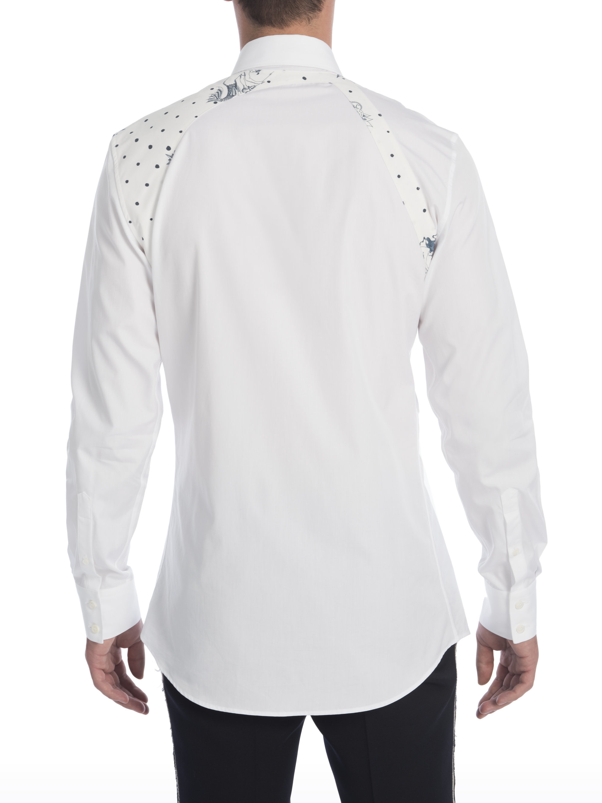 b2a18b67 Alexander McQueen Harness Lost At Sea Shirt in White for Men - Lyst