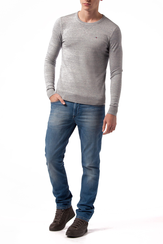 tommy hilfiger ethan plain crew neck pull over jumper in gray for men light grey lyst. Black Bedroom Furniture Sets. Home Design Ideas