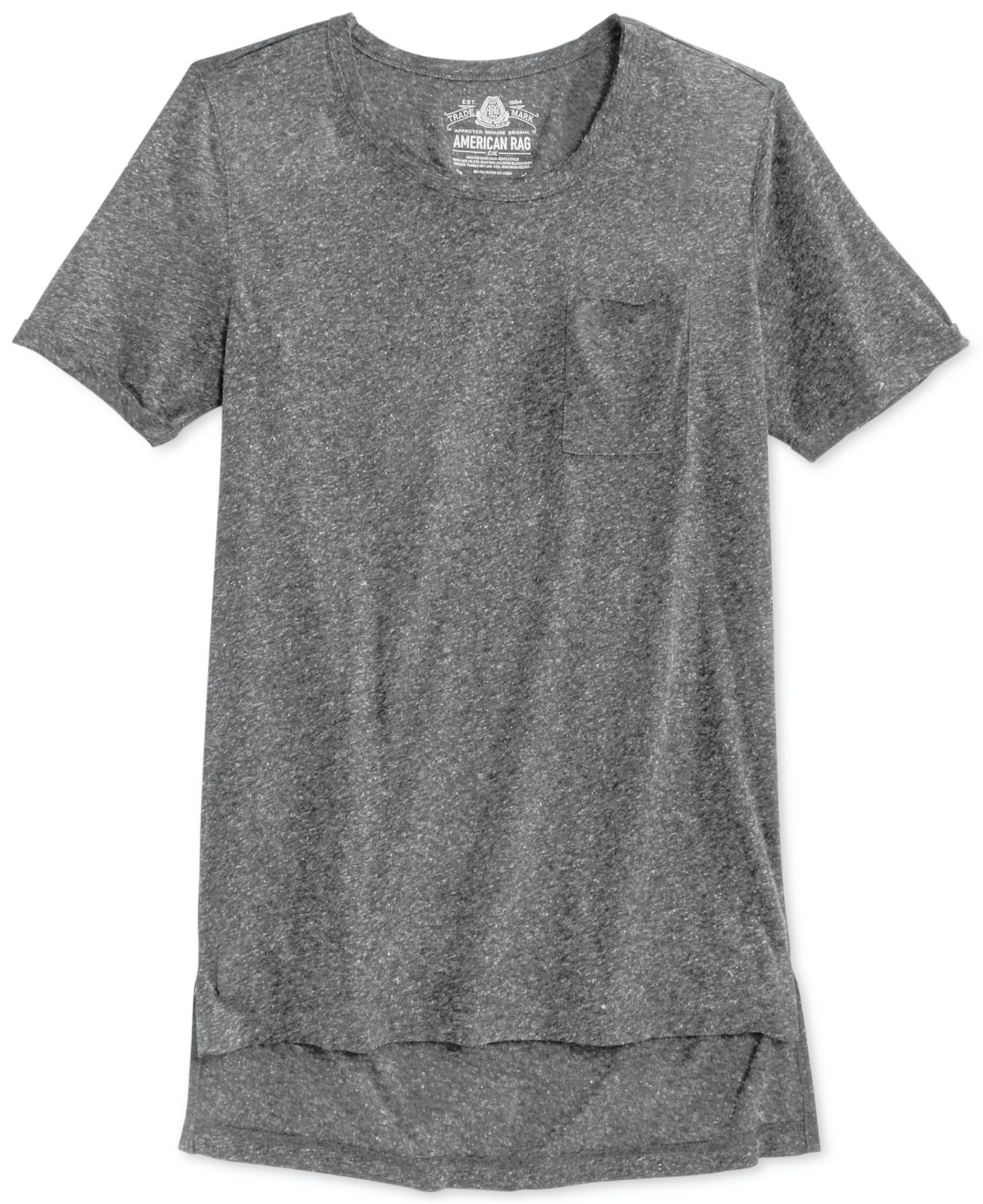 American Rag Extra Long T Shirt In Gray For Men Lyst