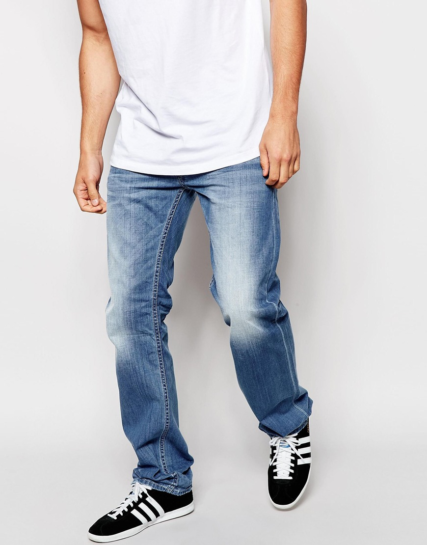 Larkee Jeans in Mid Wash Blue - Mid wash Diesel Best Authentic Outlet Countdown Package a1t2z5gHj