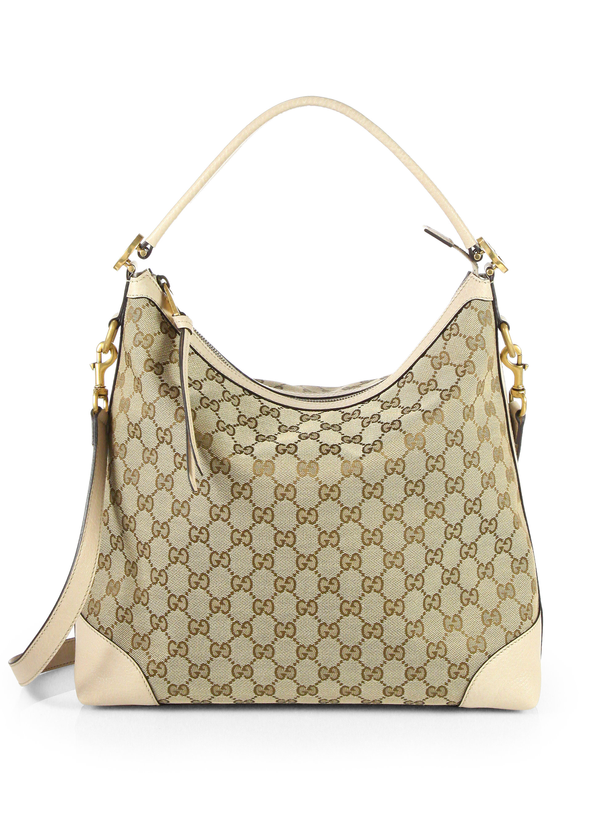 Gucci Miss Gg Original Gg Canvas Hobo Bag in Natural | Lyst
