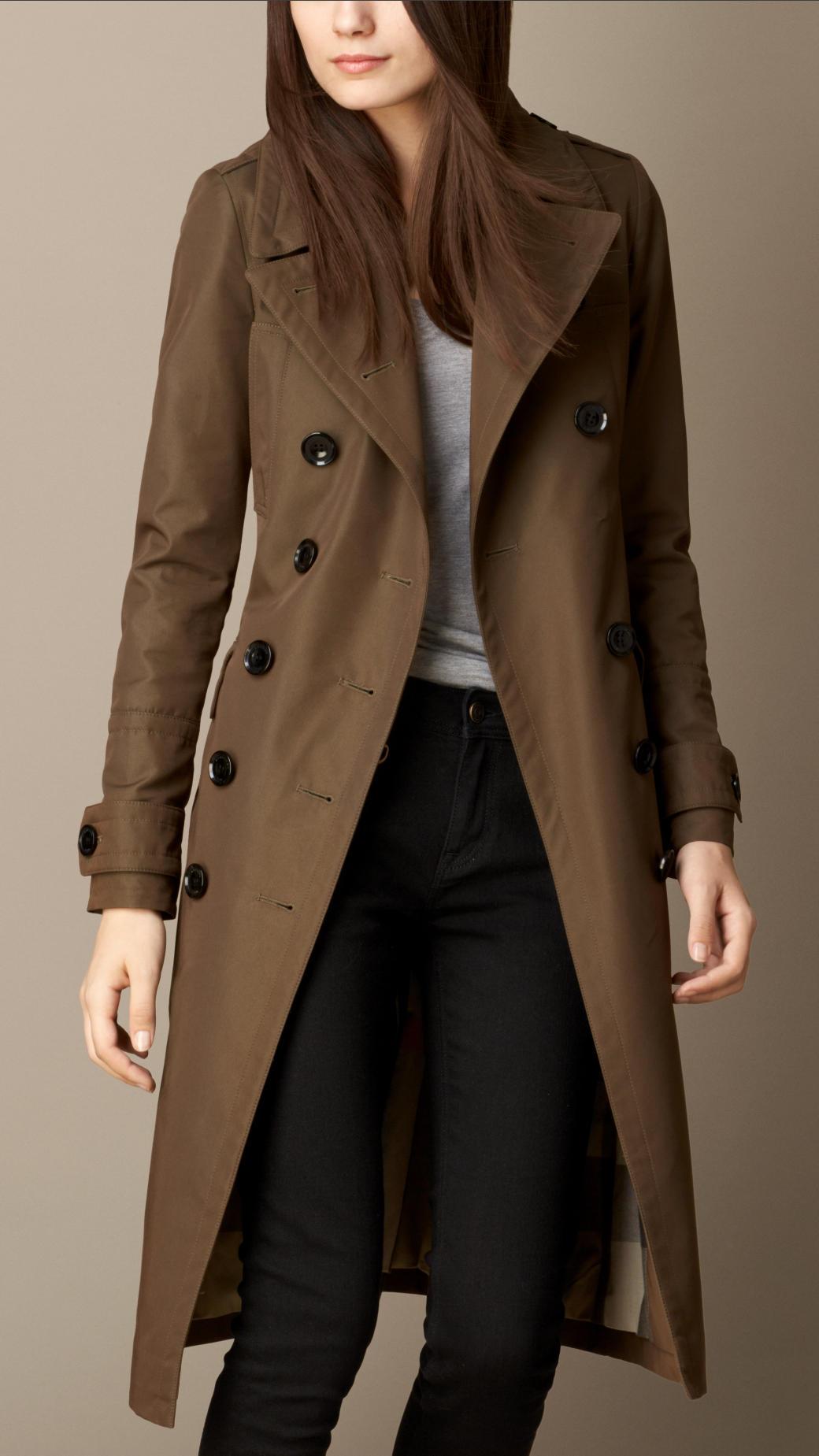 Burberry Fur Detail Military Coat in Natural | Lyst