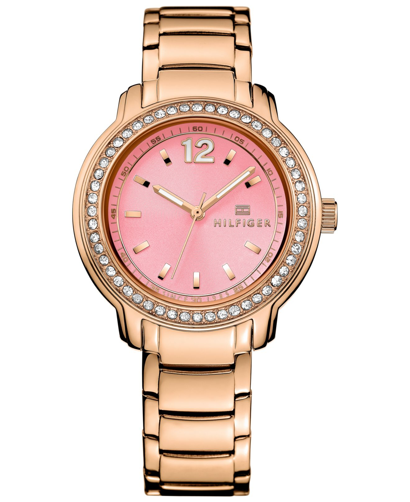 tommy hilfiger women 39 s sport lux rose gold tone bracelet watch 36mm 1781560 in pink lyst. Black Bedroom Furniture Sets. Home Design Ideas