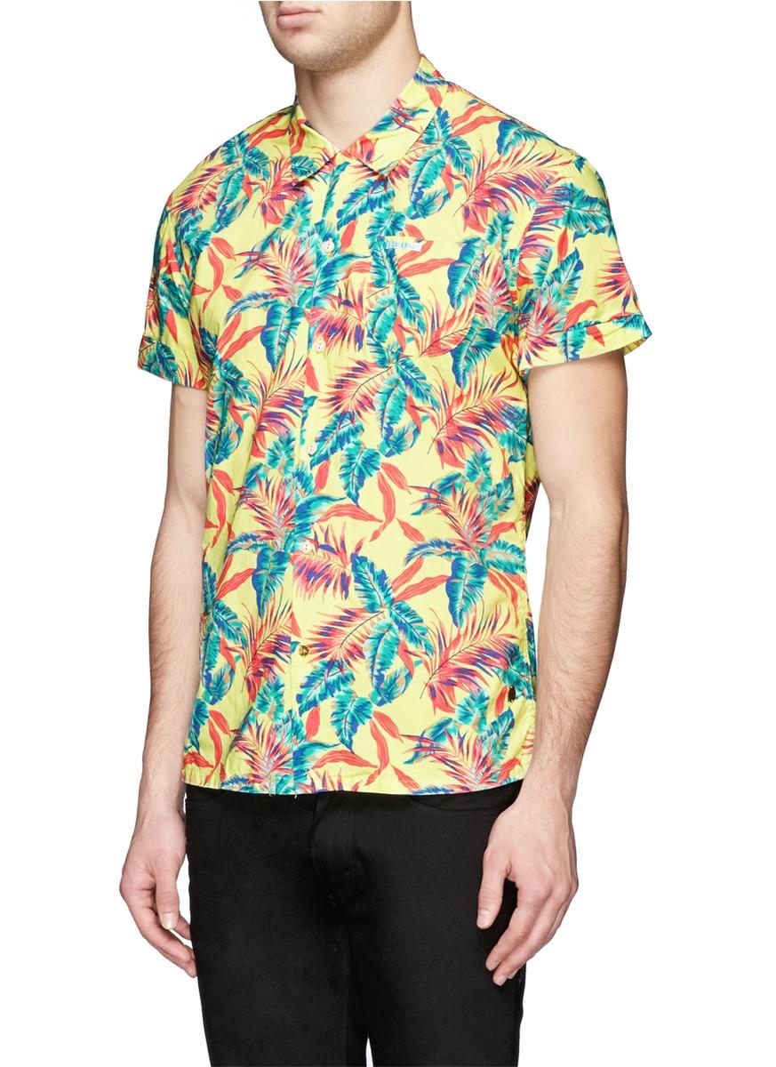 Scotch soda hawaiian floral print short sleeve shirt for for Mens short sleeve floral shirt
