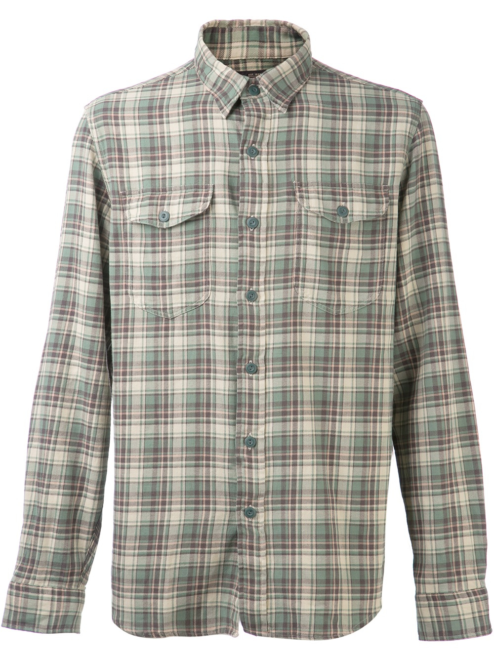 Lyst Rrl Plaid Flannel Shirt In Green For Men