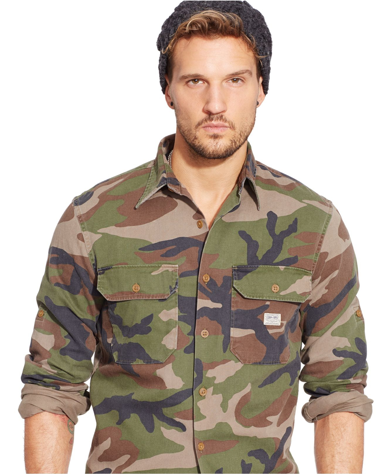 6bb3059ad19ed Denim & Supply Ralph Lauren Camo Military Shirt in Green for Men - Lyst