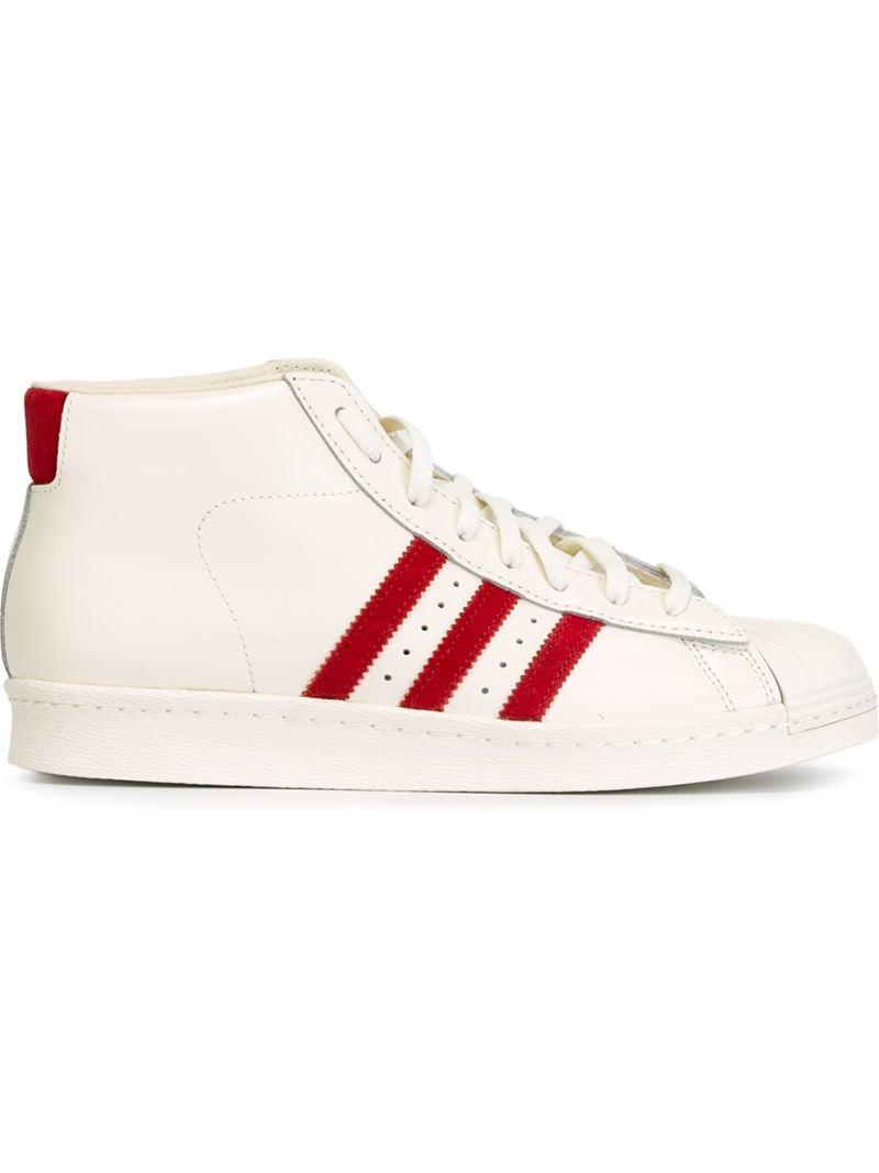 abc4b51d40a08 adidas Originals  pro Model Vintage Dlx  Hi-top Sneakers in White - Lyst