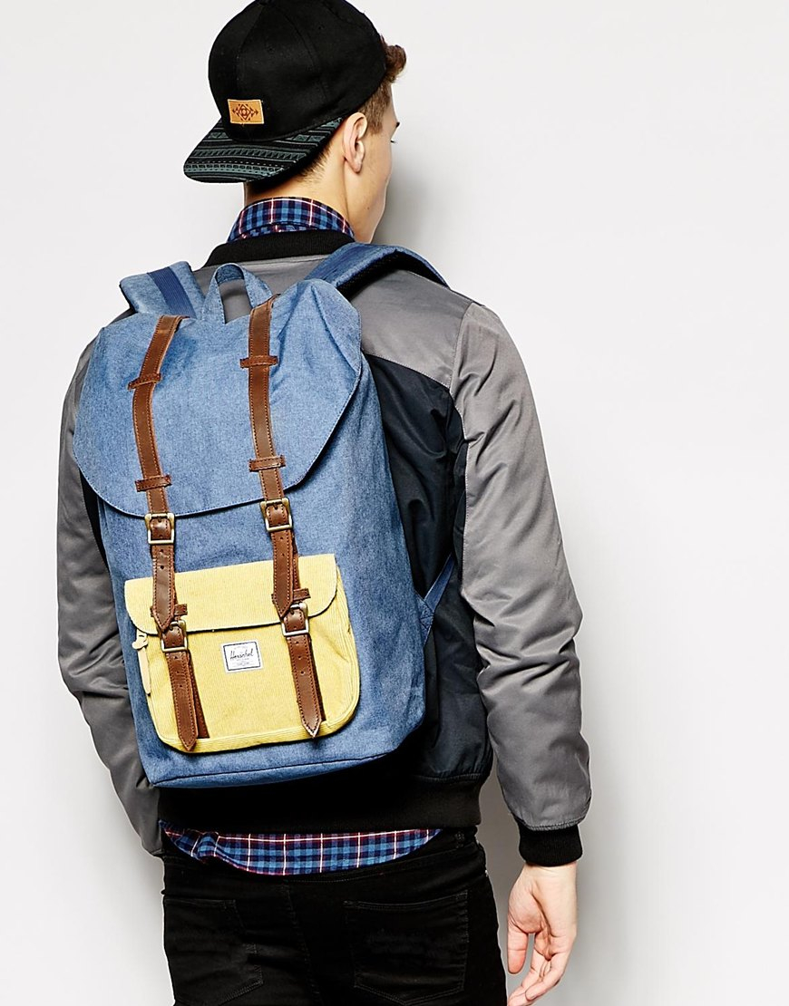 9e31586511 Lyst - Herschel Supply Co. 23.5l Little America Backpack in Blue for Men