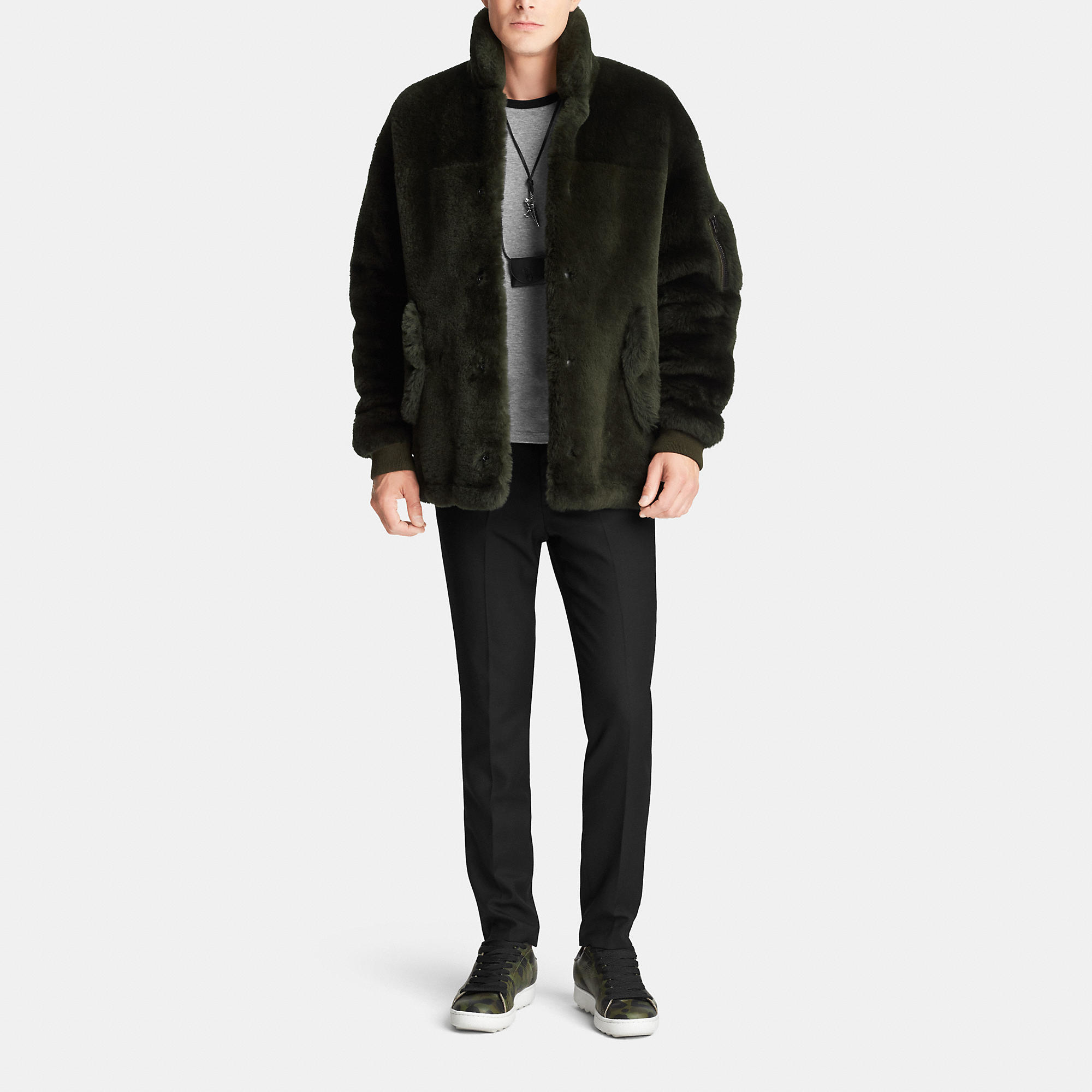 Lyst Track Coach Jacket Shearling for Men Green in SSHwprxq1