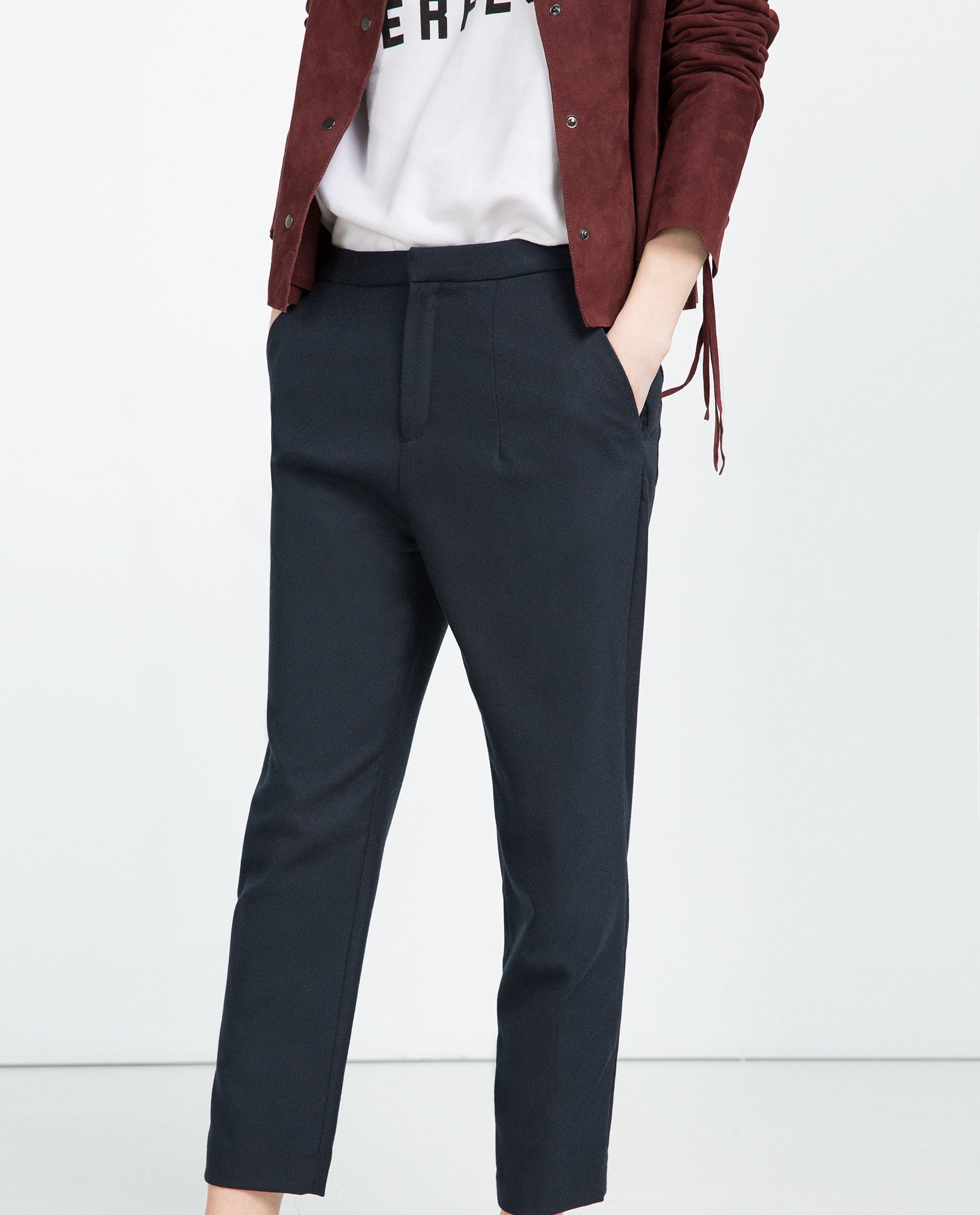 Fantastic Zara Herringbone Trousers $100 For Women Who Have A Fuller Midsection  Of Garner Style Hit The Nail On The Head With These Silky Drawstring Pants Mango Violeta Printed Baggy Trousers $90 Teeny Frame? No Problem! Go For Straight