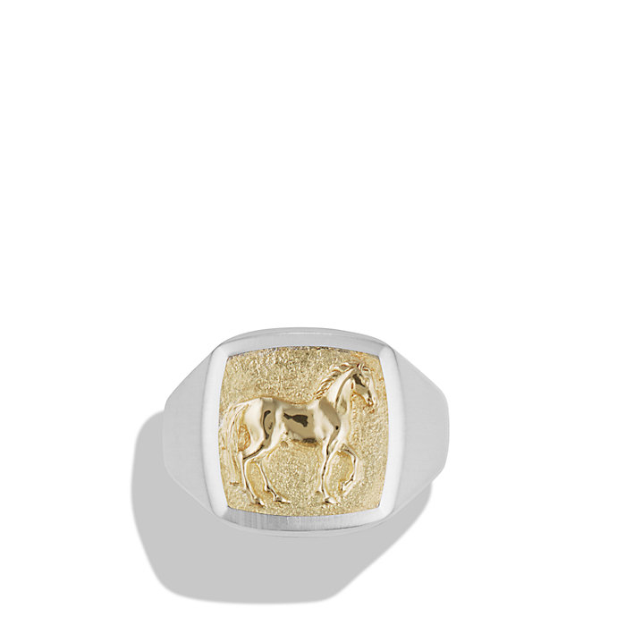 David yurman Petrvs Horse Pinky Ring With 18k Gold in Gold