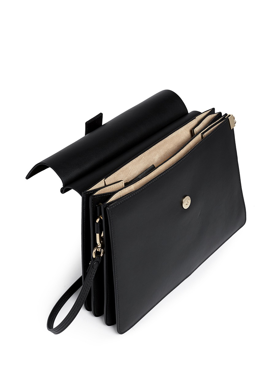 how to spot a fake chloe handbag - Chlo�� \u0026#39;faye\u0026#39; Medium Suede Flap Leather Shoulder Bag in Black | Lyst
