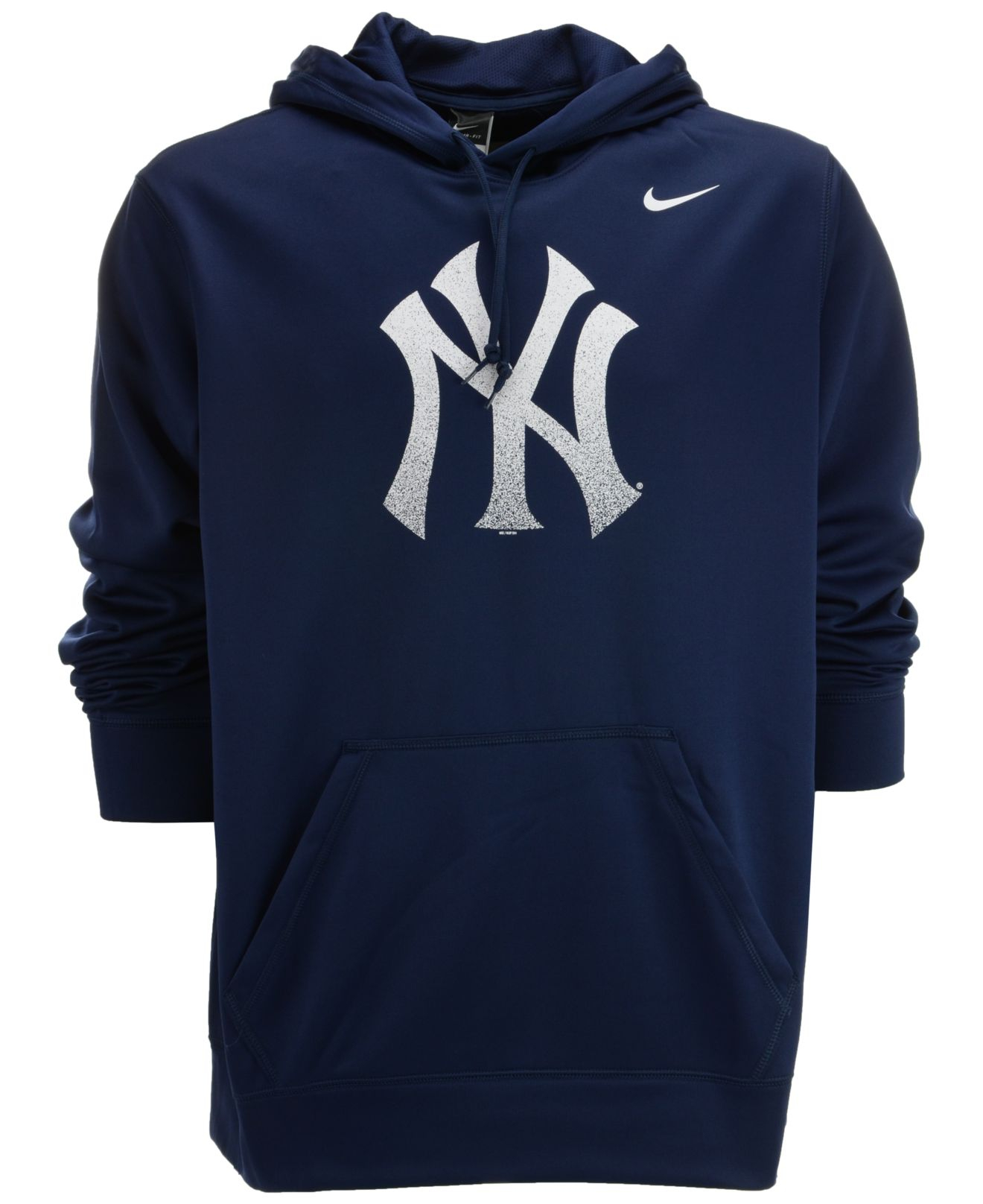 sports shoes 9d5fb 400a1 Blue Men's New York Yankees Logo Performance Hoodie