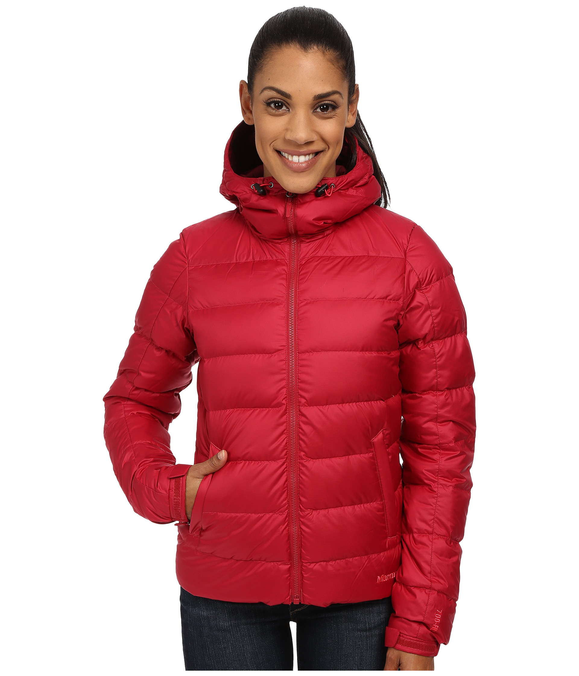 Lyst - Marmot Guides Down Hoodie in Red a0b2cac6f9