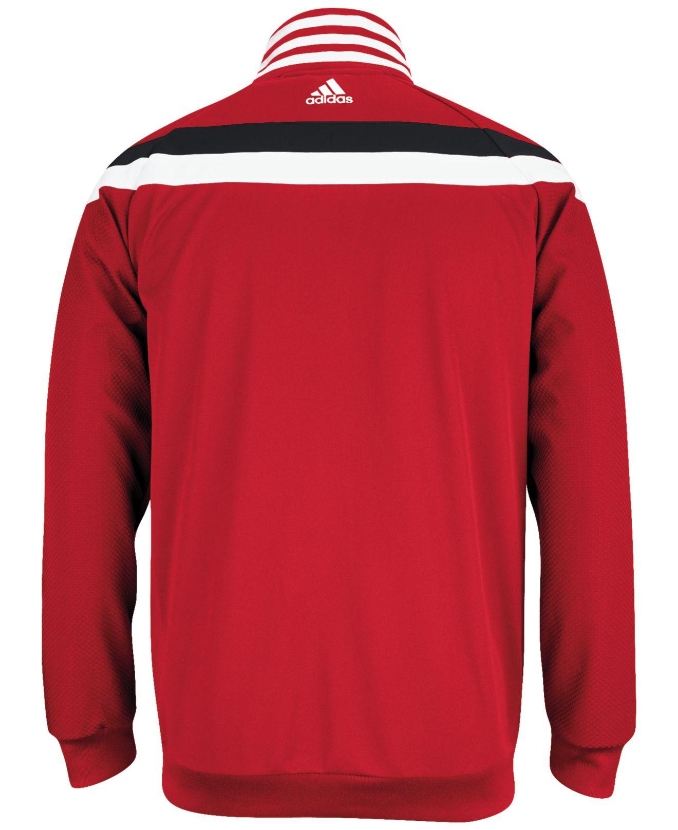 Portland Blkazer: Adidas Men'S Portland Trail Blazers On-Court Jacket In Red