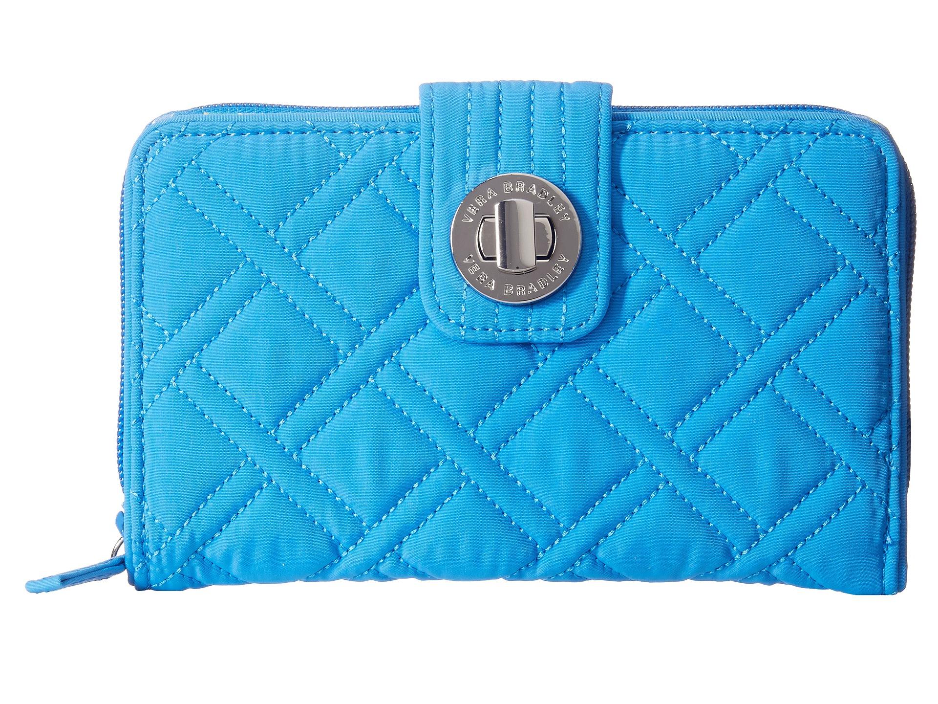 Lyst Vera Bradley Turnlock Wallet In Blue