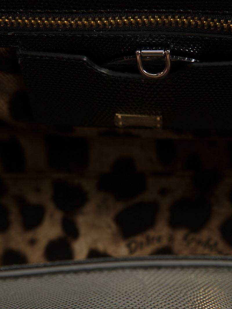 Dolce & Gabbana Medium 'Monica' Tote in Black