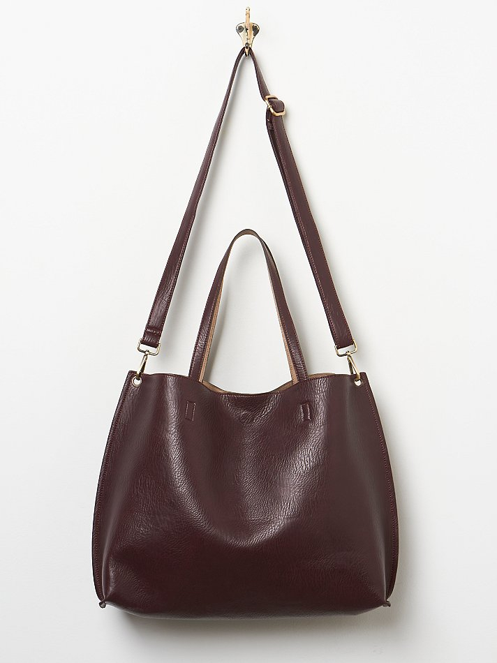 Free People Slouchy Vegan Tote in Natural