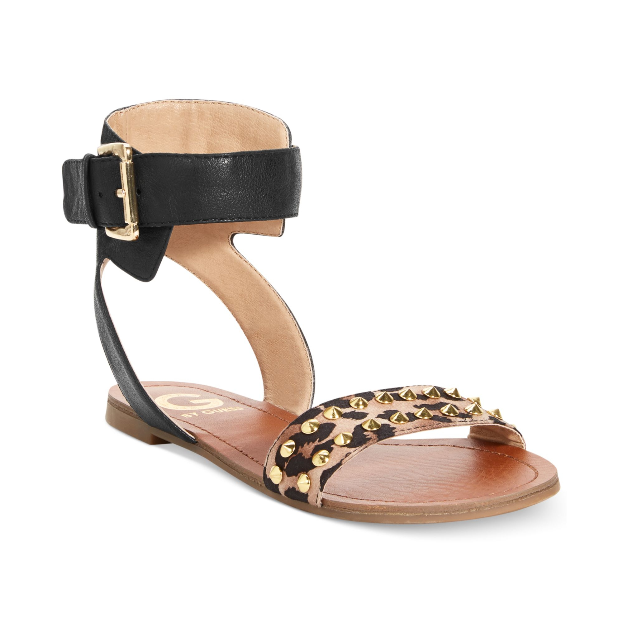 Brilliant By Guess Women39S Dahlia Braided TStrap Flat Sandals In Brown  Lyst