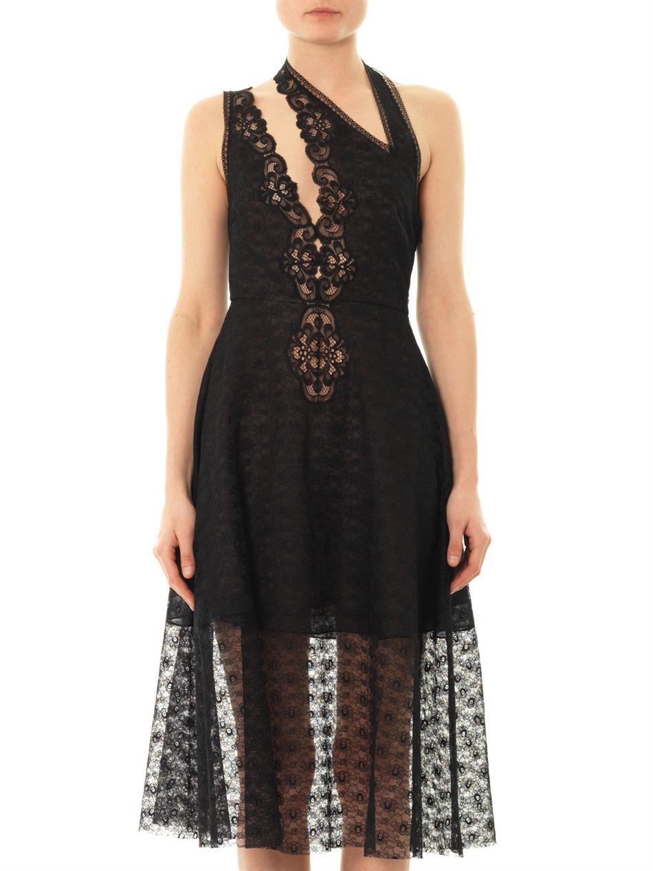 Stella Mccartney Caroline Rosebud Lace Dress In Black Lyst