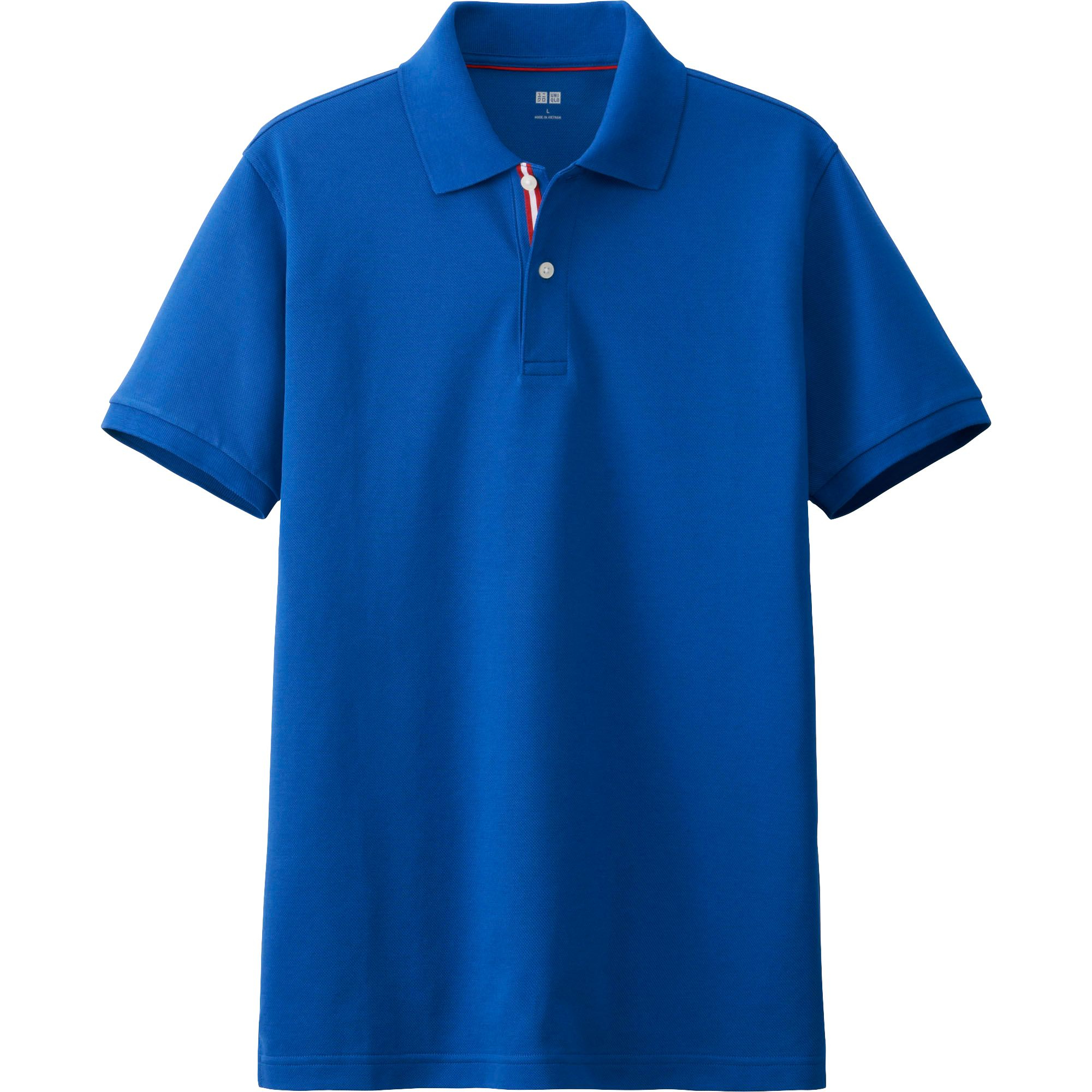 Uniqlo Dry Pique Line Short Sleeve Polo Shirt In Blue For